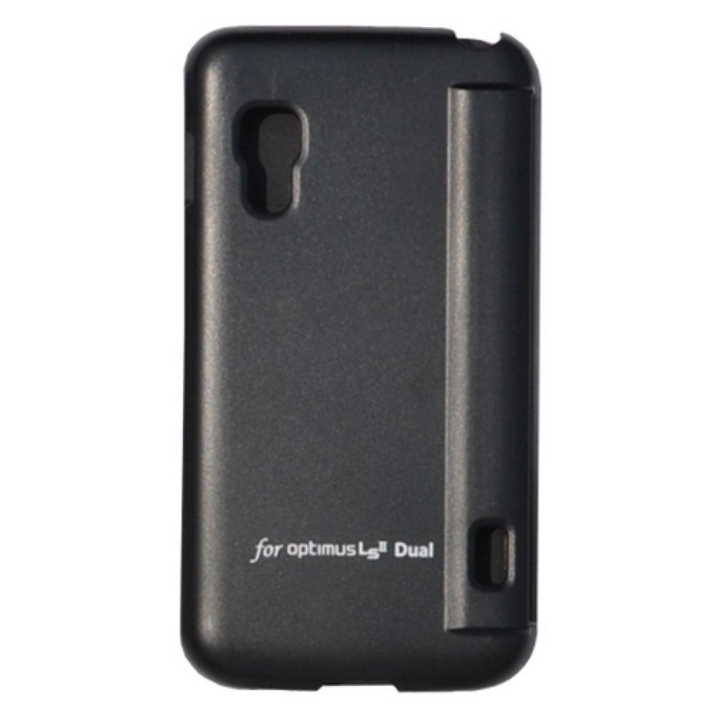 Чехол для моб. телефона VOIA для LG E455 Optimus L5II Dual /Flip/Black (6068233) изображение 3