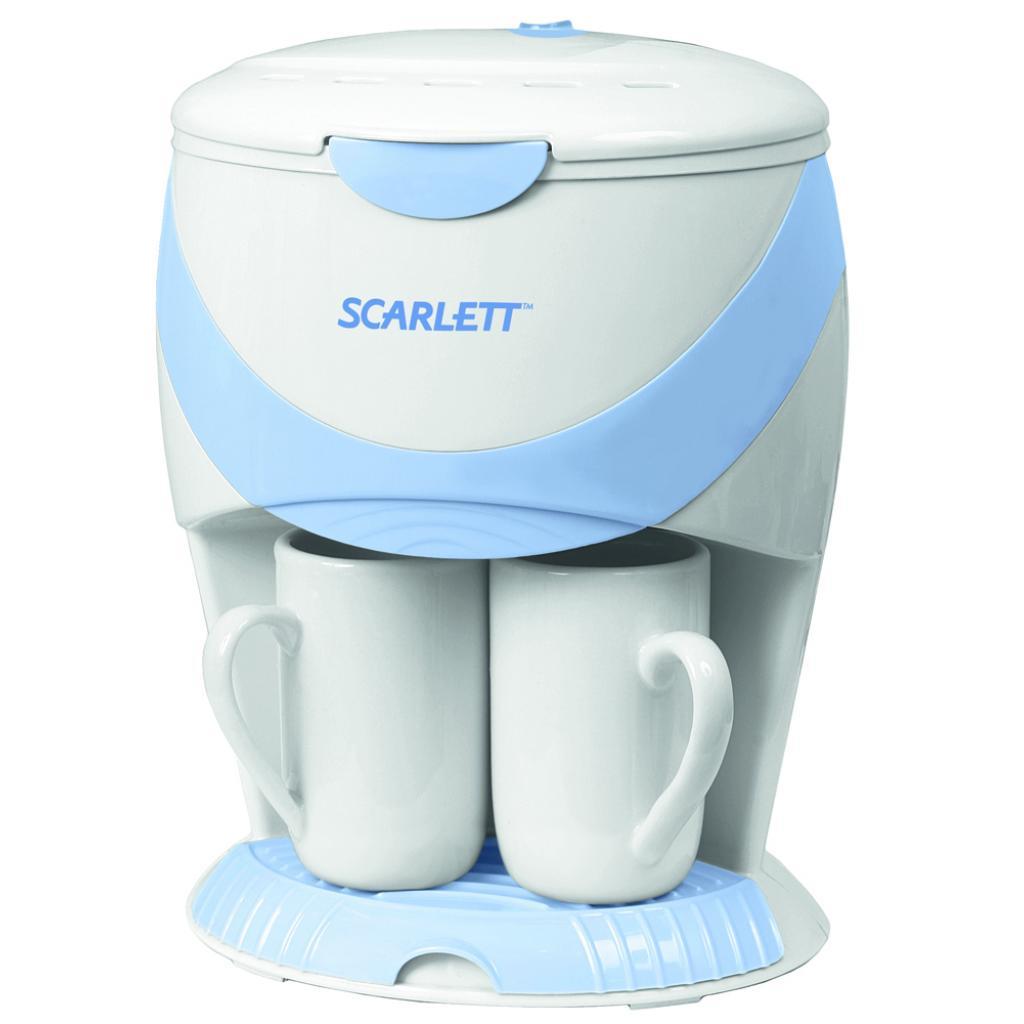Кофеварка SCARLETT SC-1032 white