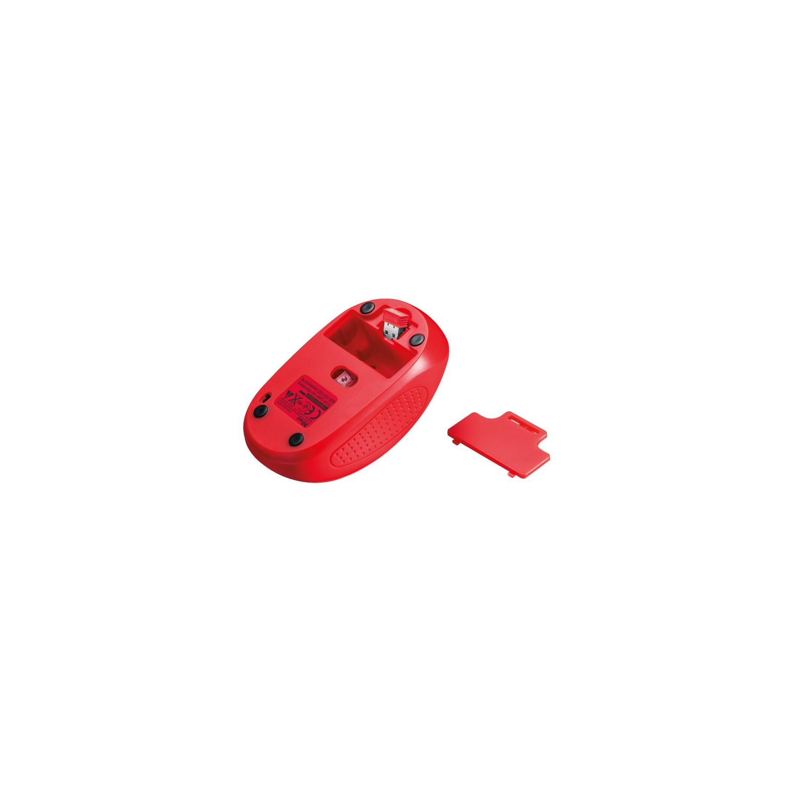 Мышка Trust Primo Wireless Mouse Red (20787) изображение 4