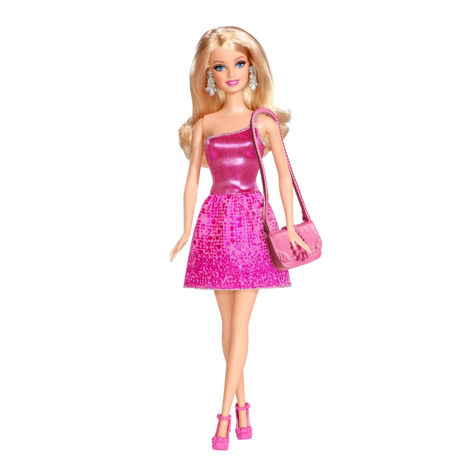 Кукла BARBIE Блестящая в розовом платье (T7580-3)