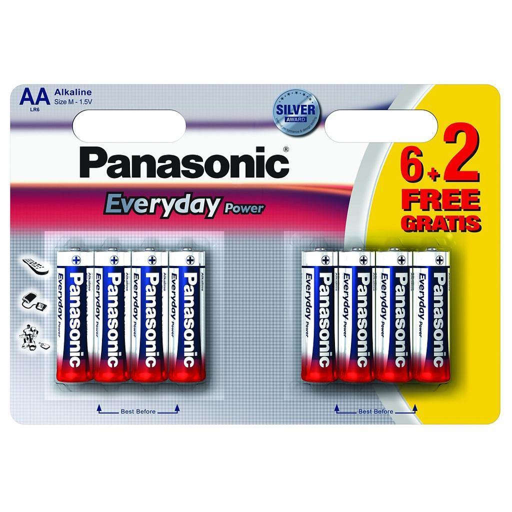Батарейка PANASONIC AA EVERYDAY POWER * 8 (LR6REE/8B2F)