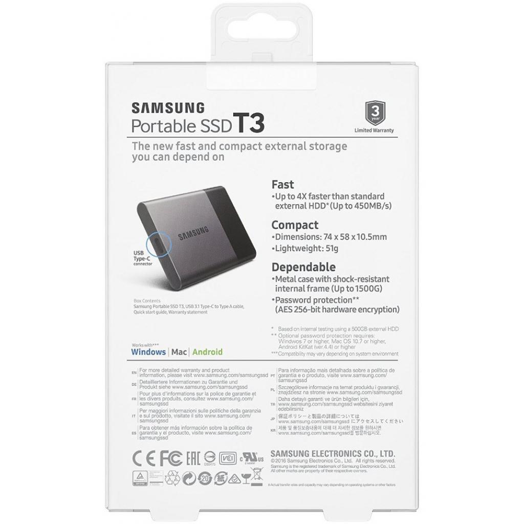 Накопитель SSD USB 3.0 250GB Samsung (MU-PT250B/EU) изображение 9