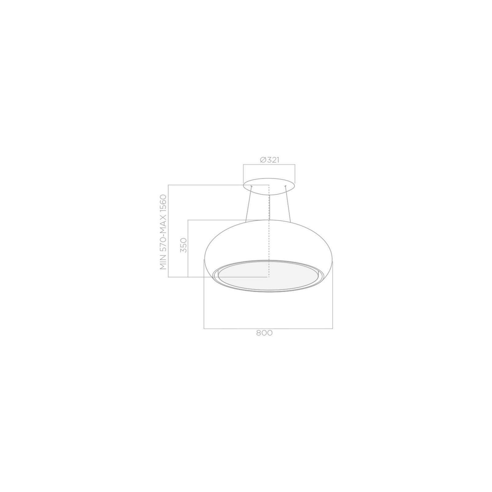 Вытяжка кухонная Elica SEASHELL WH MAT/F/80 изображение 2