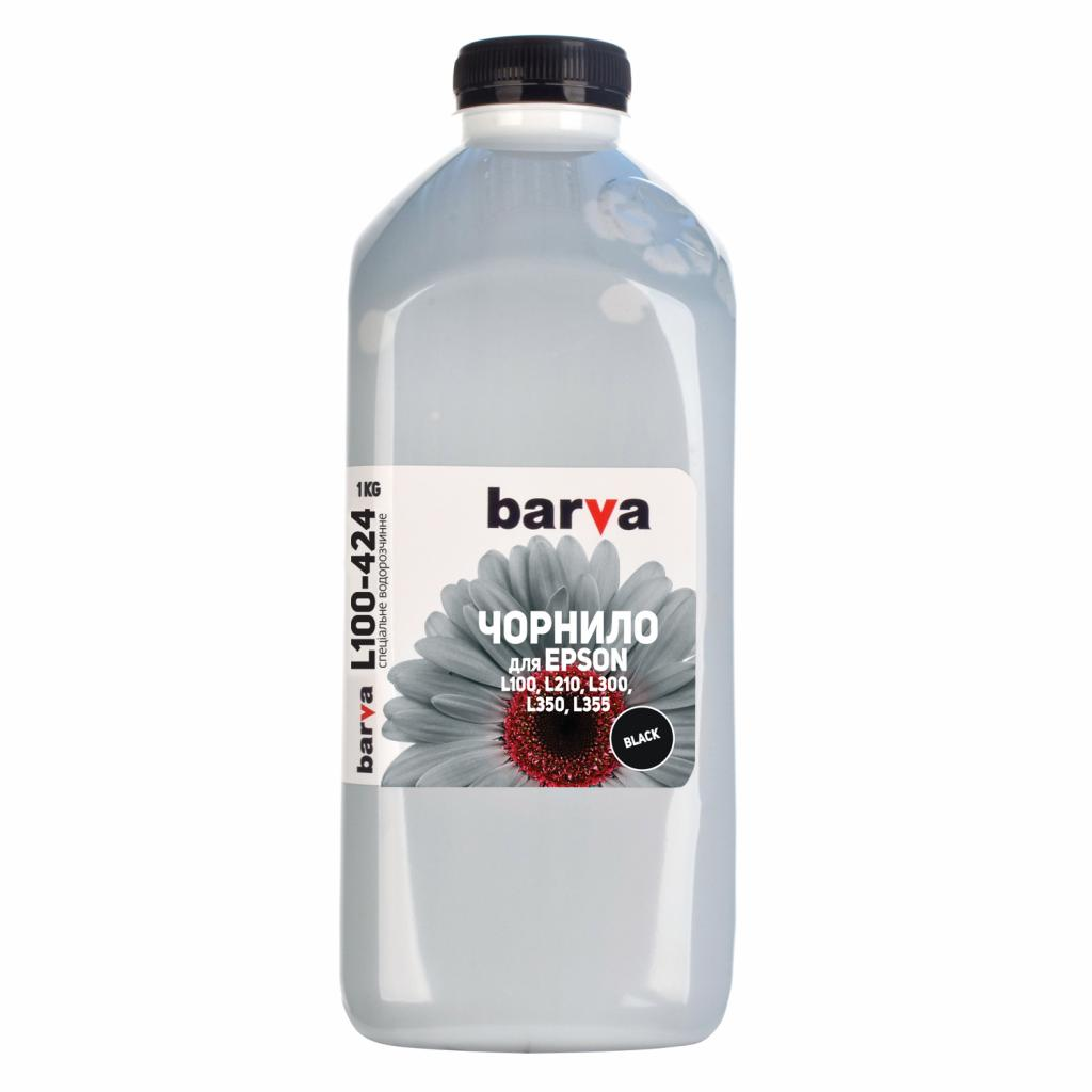 Чернила BARVA EPSON L100/L210/L300/L350/L355 (T6641) 1кг BLACK (L100-424)