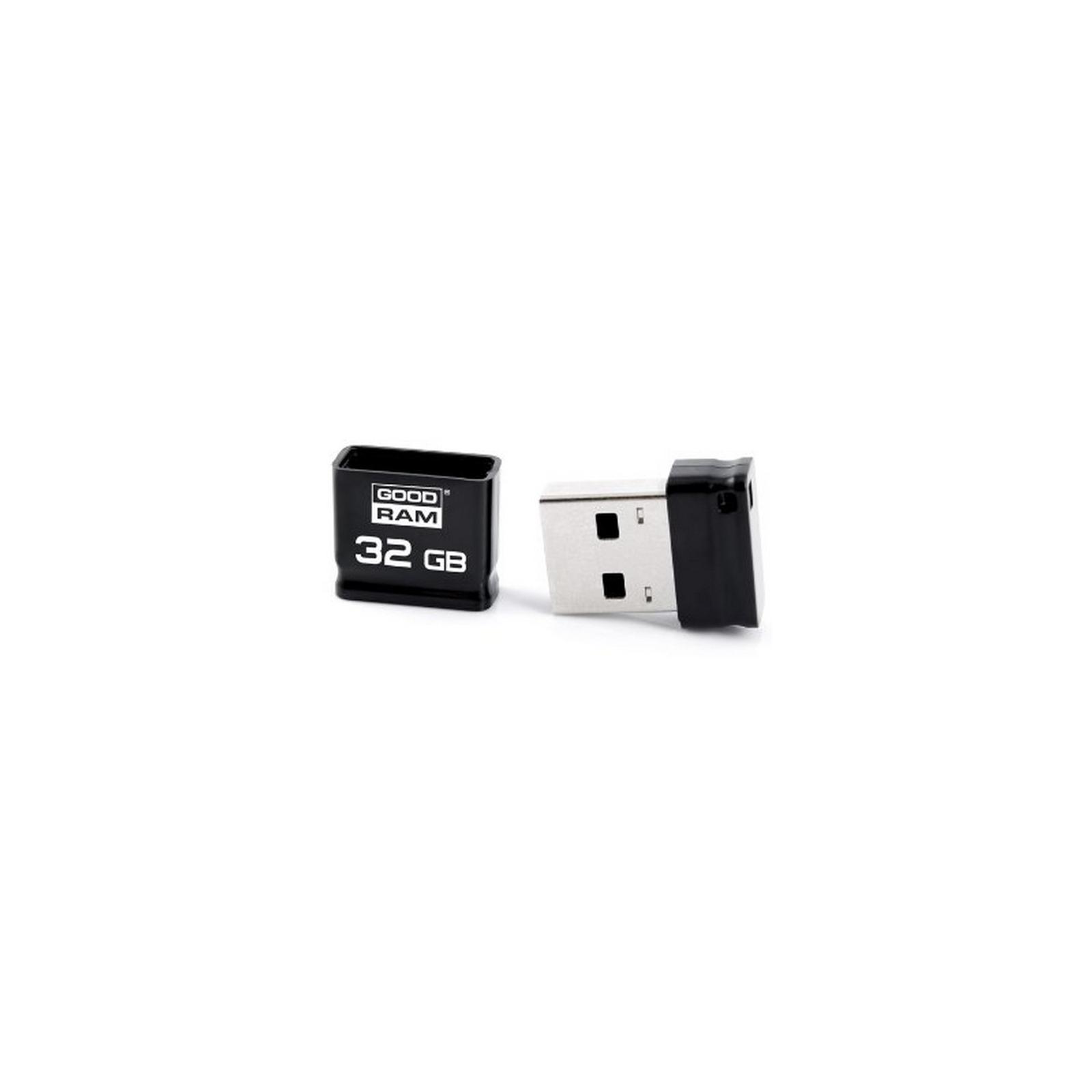 USB флеш накопитель Goodram 32GB Piccolo Black USB 2.0 (UPI2-0320K0R11) изображение 2