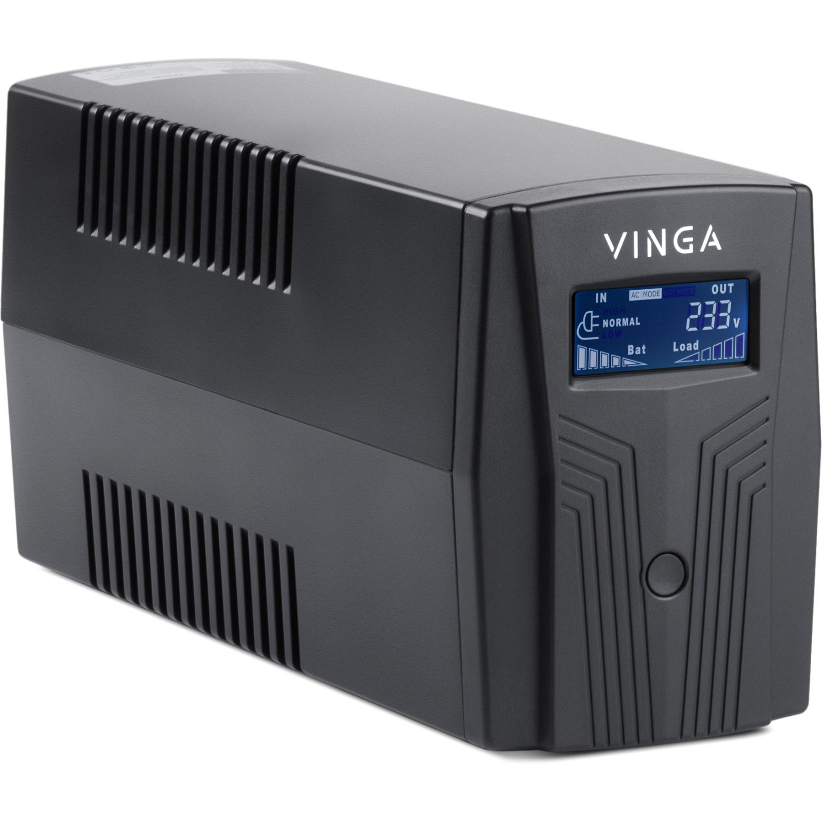 Источник бесперебойного питания Vinga LCD 1200VA plastic case (VPC-1200P) изображение 3