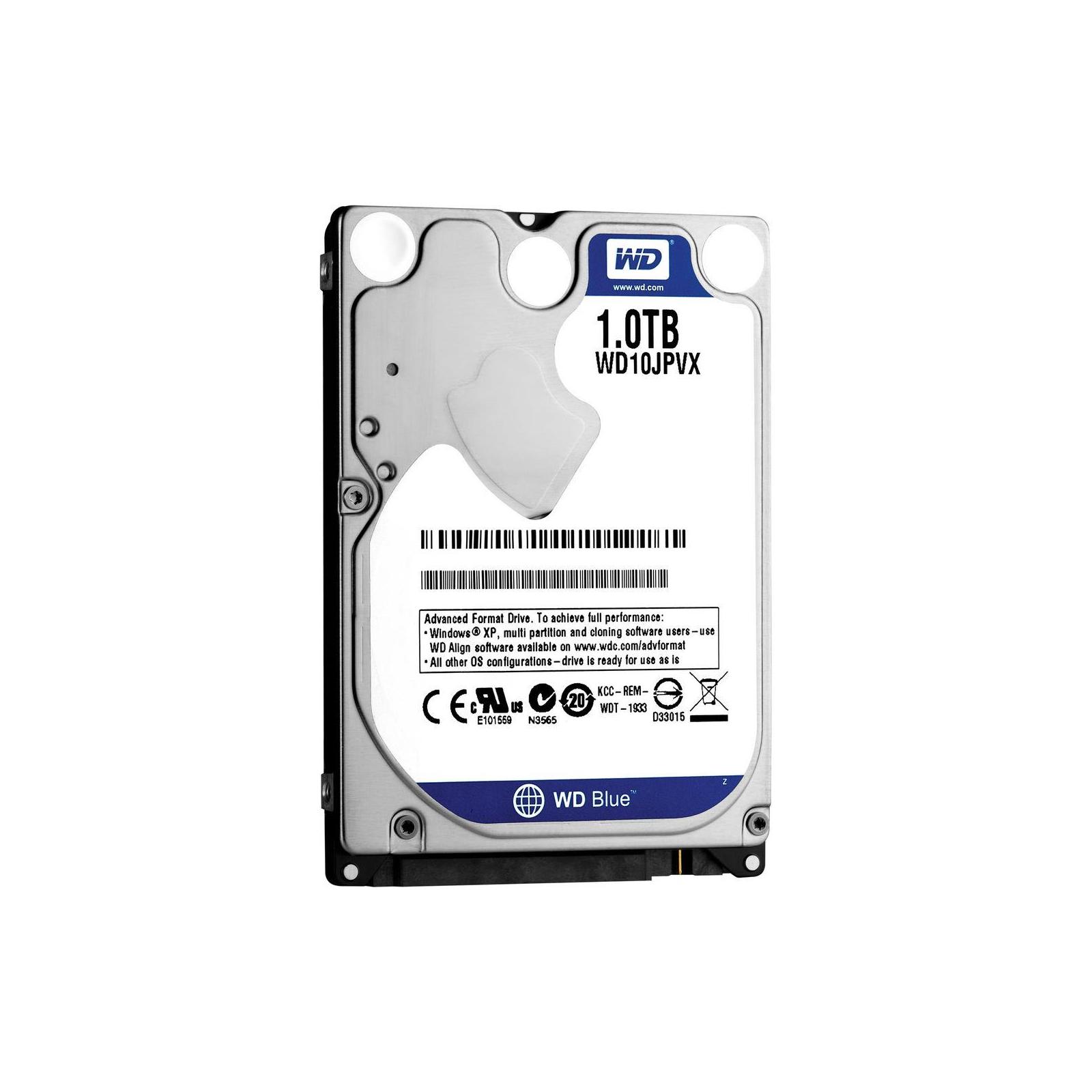 """Жесткий диск для ноутбука 2.5"""" 1TB WD (#WD10JPVX-FR#) изображение 2"""