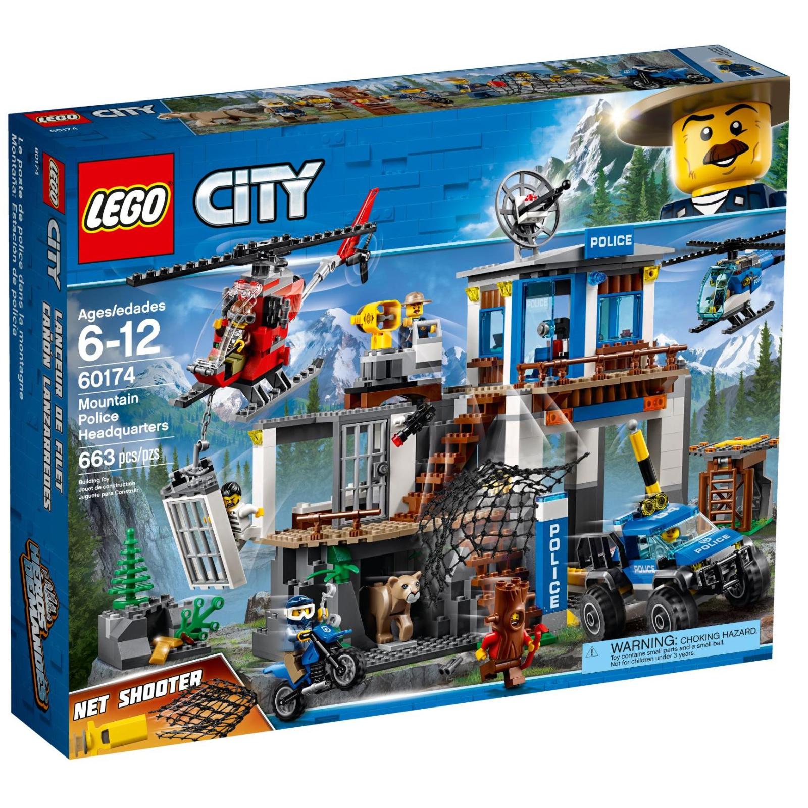 Конструктор LEGO City Police Штаб-квартира горной полиции (60174)