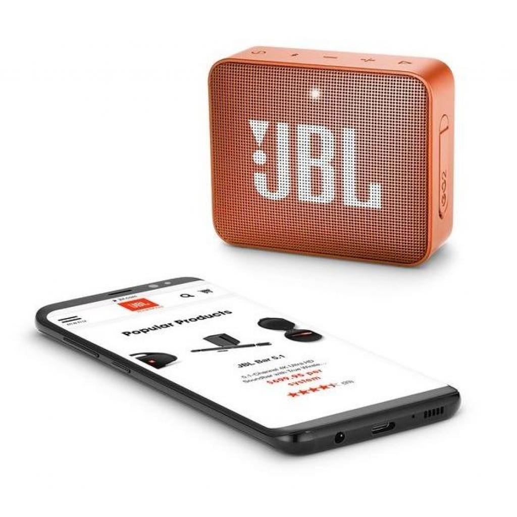 Акустическая система JBL GO 2 Orange (JBLGO2ORG) изображение 6