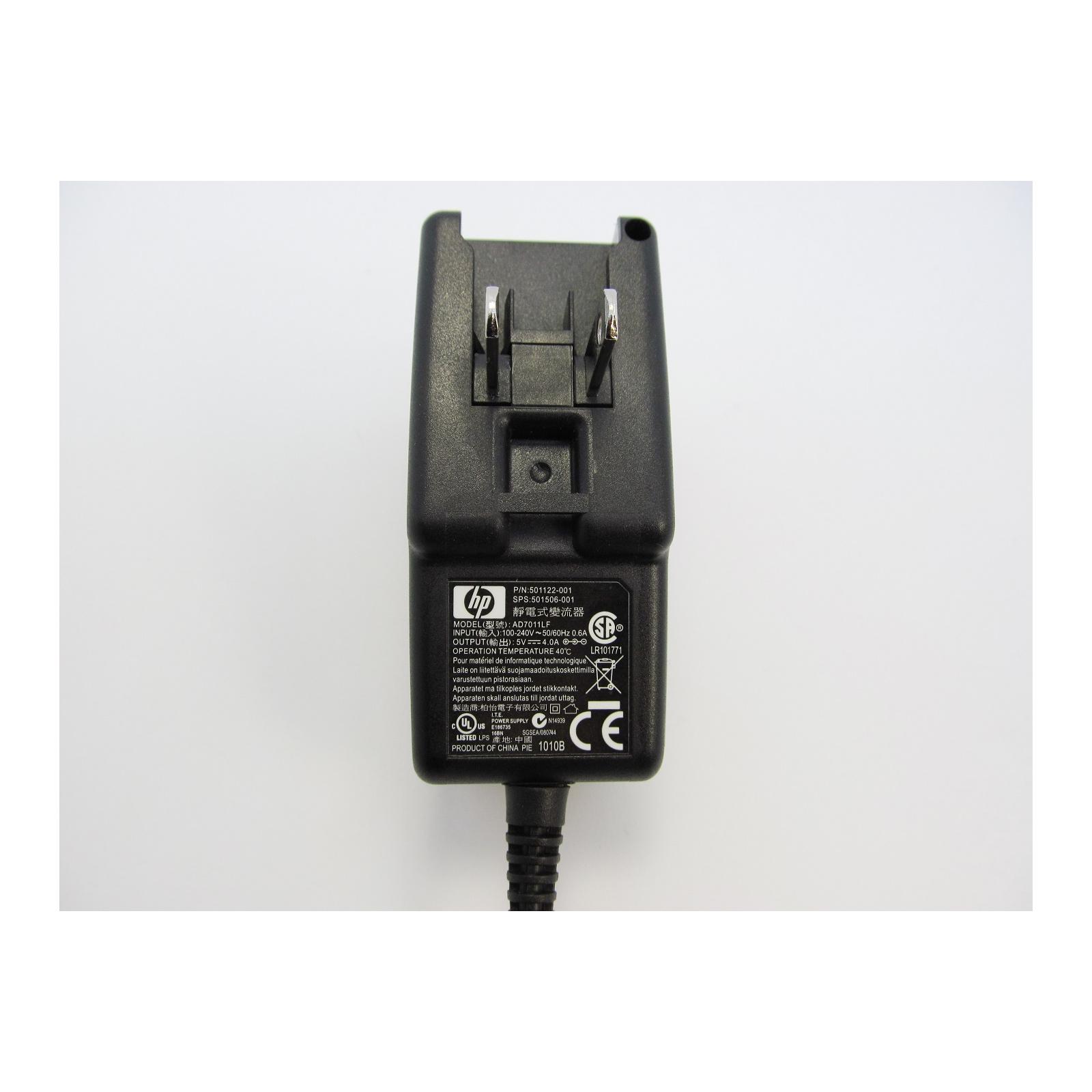 Блок питания к ноутбуку HP 20W 5V, 4A, разъем 4.0/1.7, wall mount (AD7011LF / A40260) изображение 4