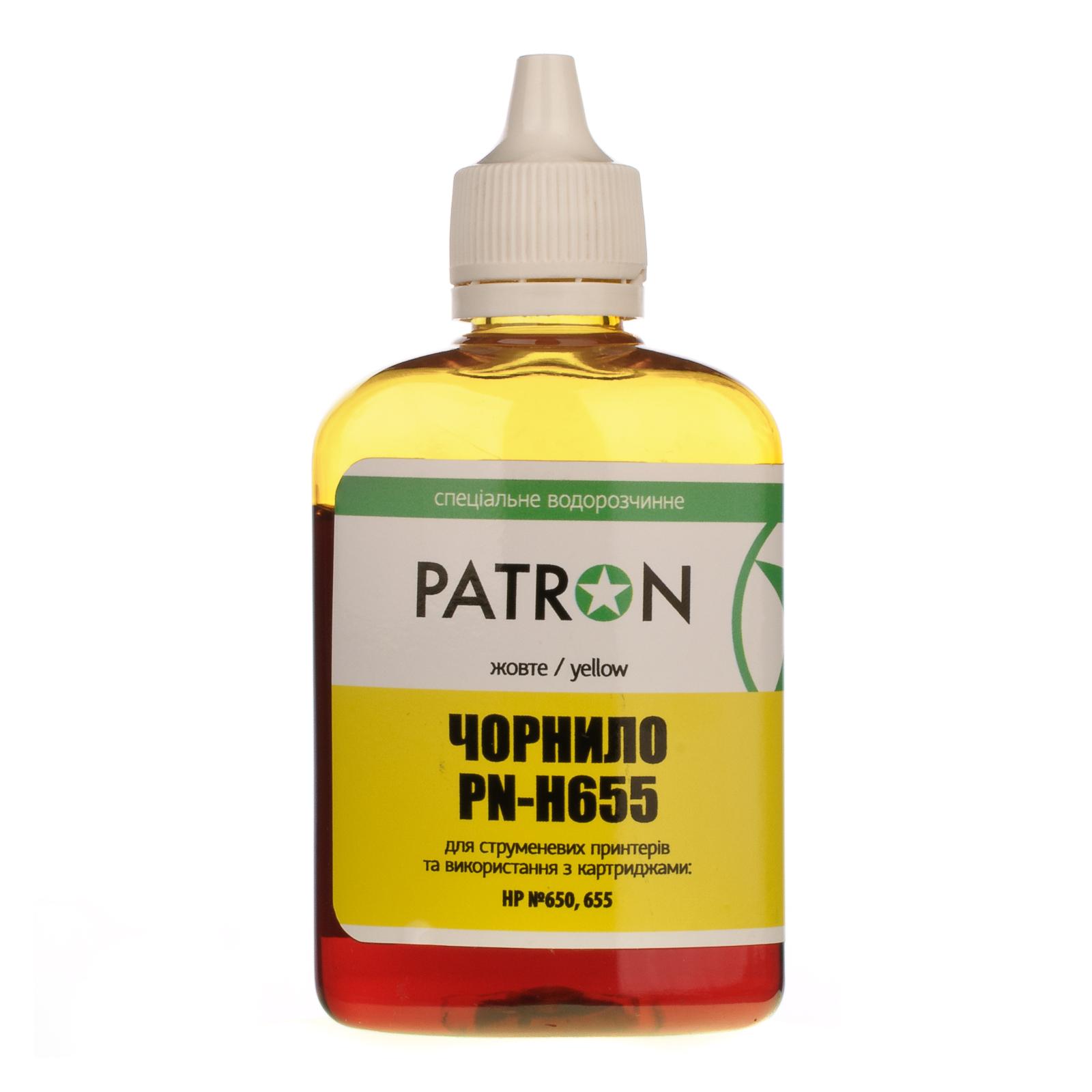 Чернила PATRON HP №650/655 90г YELLOW (I-PN-H655-090-Y)