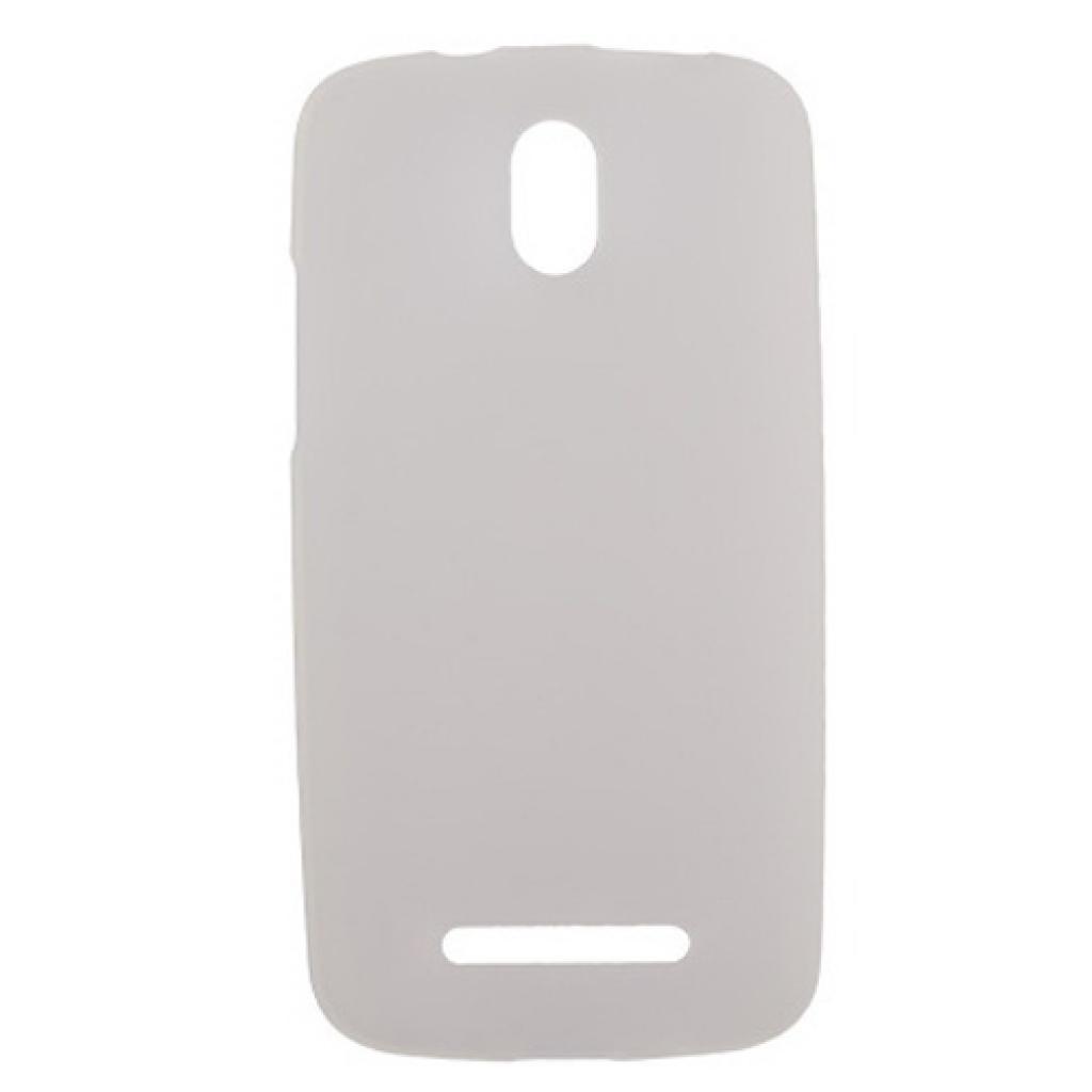 Чехол для моб. телефона Drobak для HTC Desire 500 /ElasticPU/WhiteClear (218868)