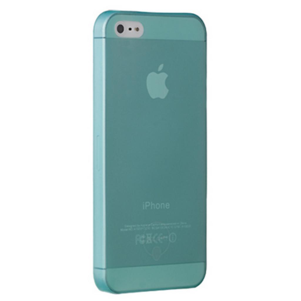 Чехол для моб. телефона OZAKI iPhone 5/5S O!coat 0.3 JELLY/Cyan (OC533CY)