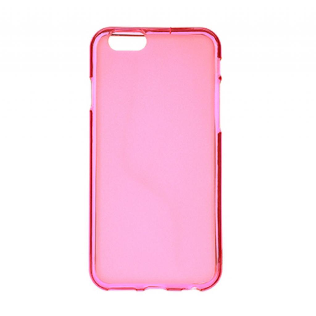 Чехол для моб. телефона Drobak для Apple Iphone 6 Pink Clear /Elastic PU/ (210288) (210288)