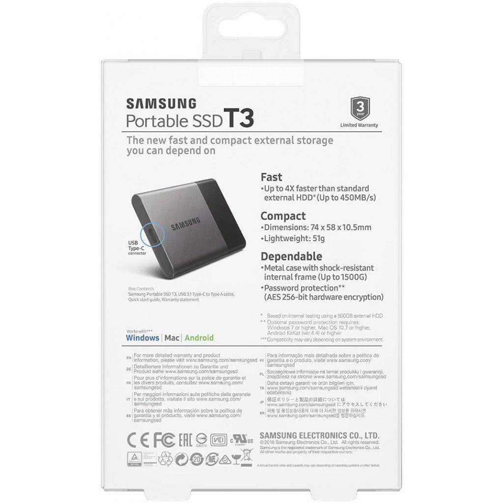 Накопитель SSD USB 3.0 500GB Samsung (MU-PT500B/EU) изображение 9