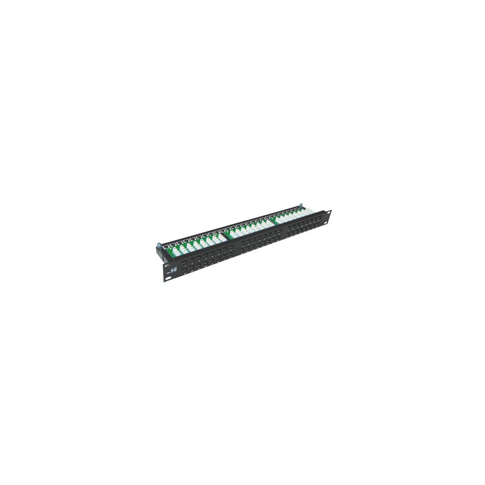 """Патч-панель Hypernet 19"""" 48хRJ-45 UTP, cat. 5е с держателем кабеля (PP-KUTP48-1U)"""