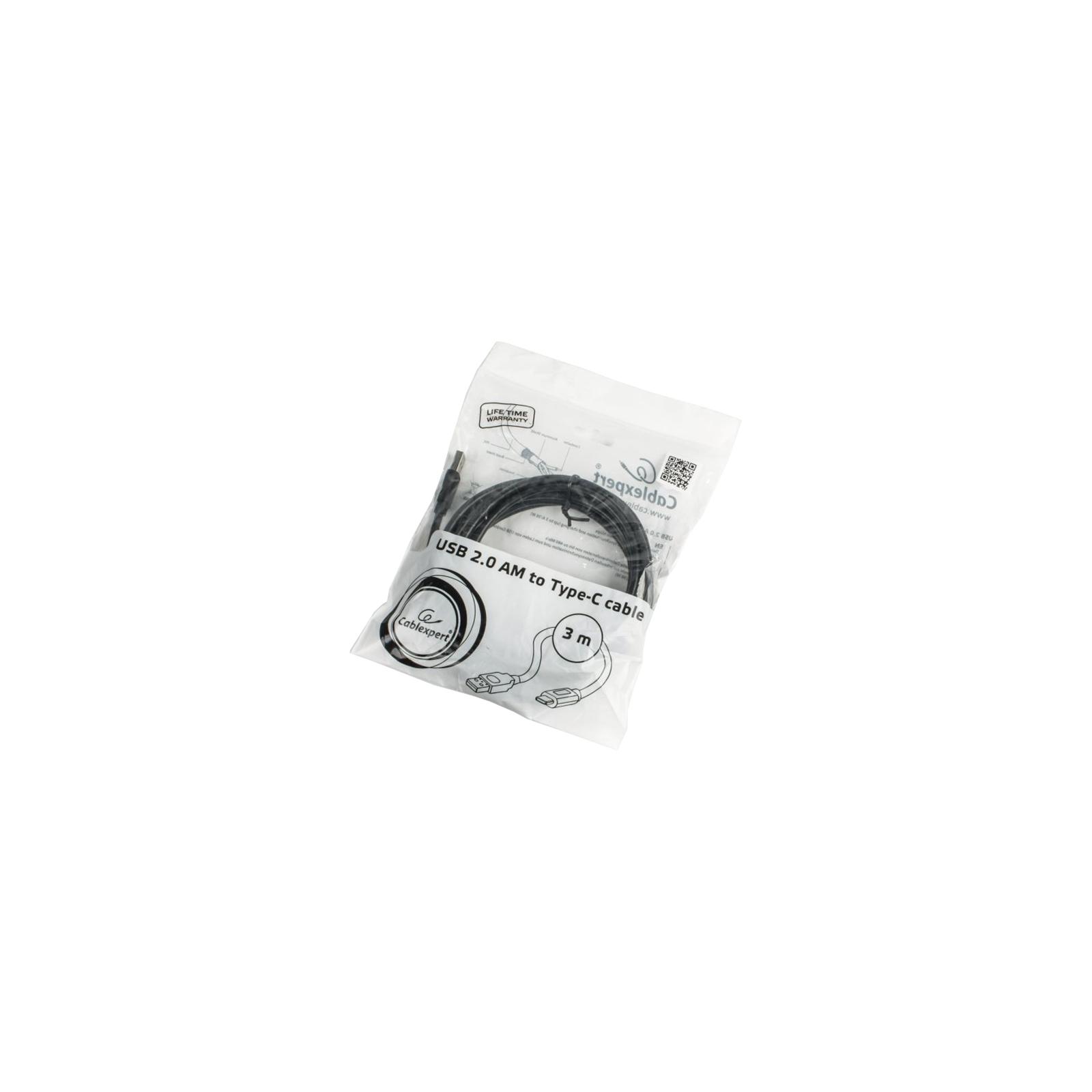 Дата кабель USB 2.0 Type-C to AM 3.0m Cablexpert (CCP-USB2-AMCM) изображение 2