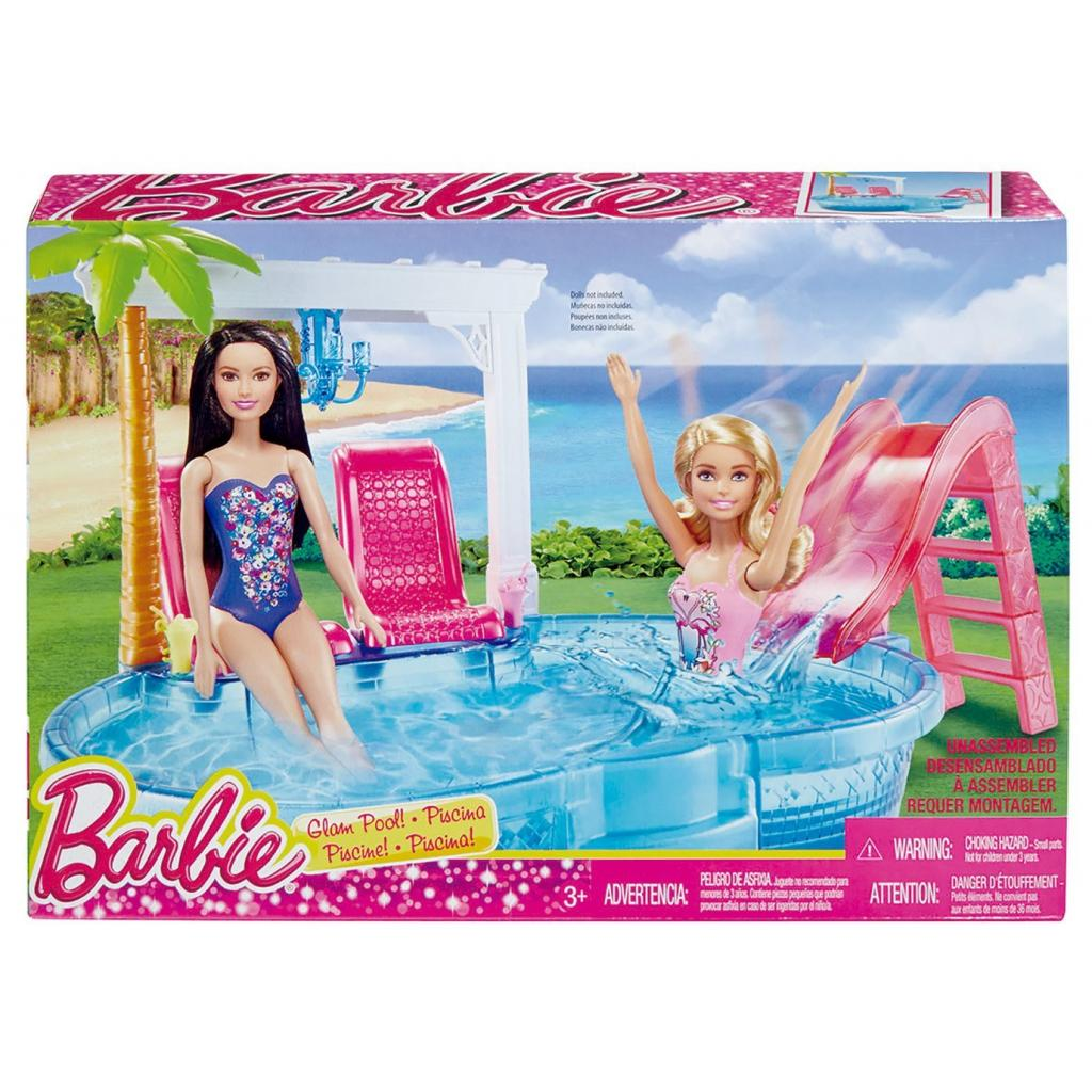 Аксессуар к кукле Barbie Гламурный бассейн (DGW22) изображение 4