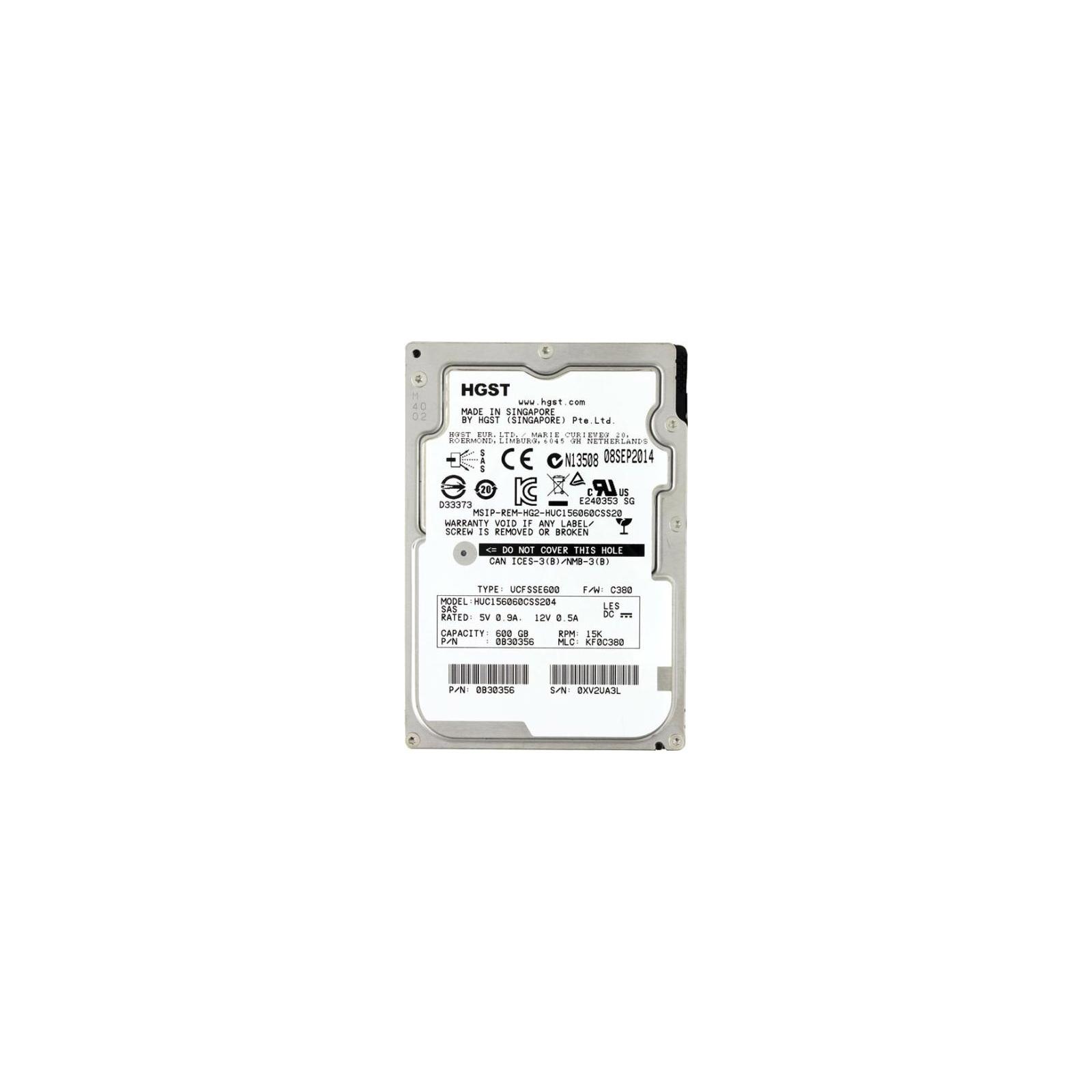 Жесткий диск для сервера 600GB Hitachi HGST (0B30356 / HUC156060CSS204)