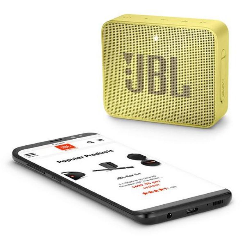 Акустическая система JBL GO 2 Yellow (JBLGO2YEL) изображение 6