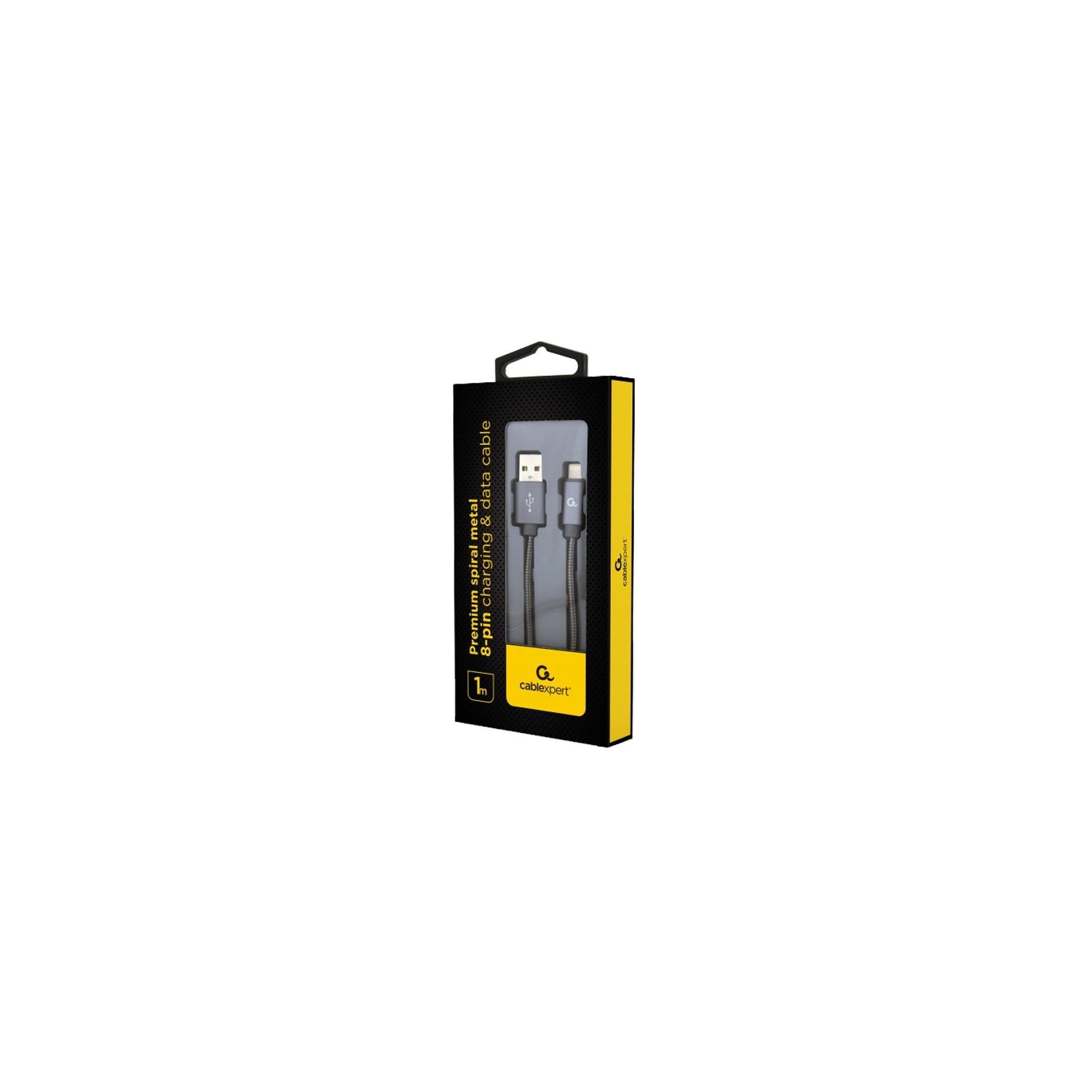 Дата кабель USB 2.0 AM to Lightning 1.0m Cablexpert (CC-USB2S-AMLM-1M-BG) изображение 2