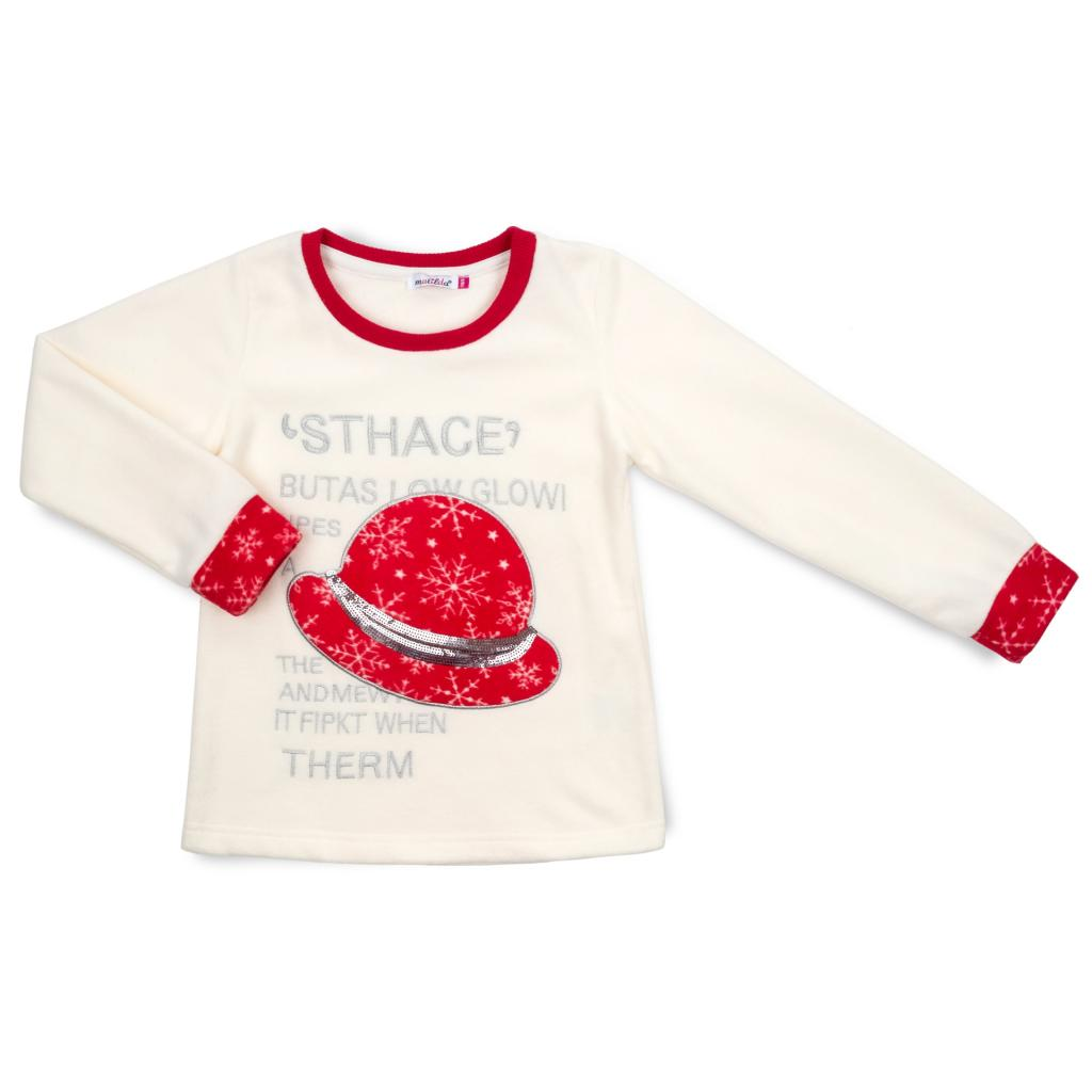 Пижама Matilda флисовая со шляпкой (9110-3-134G-red) изображение 2