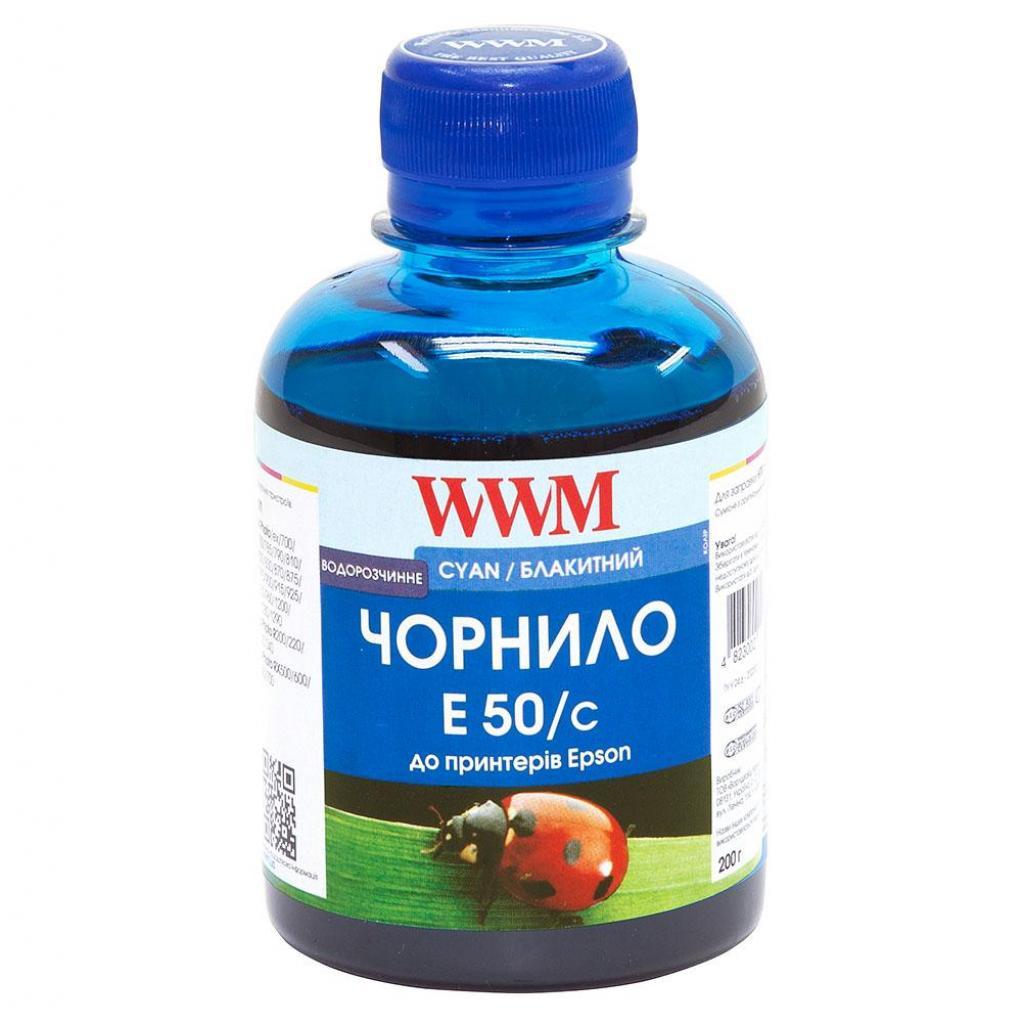 Чернила WWM Epson Stylus Universal cyan (E50/C)