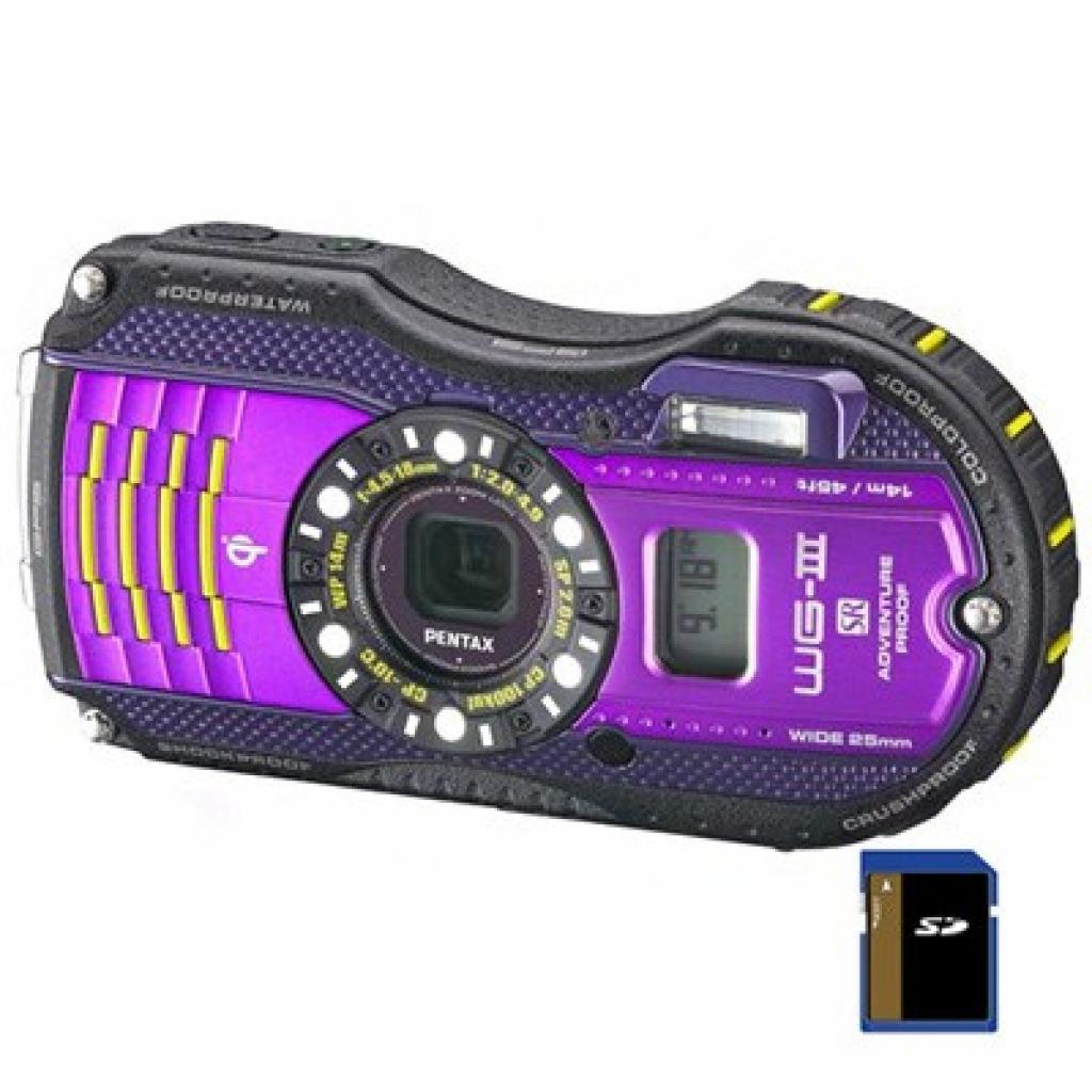 Цифровой фотоаппарат Pentax Optio WG-3 GPS black-violet (12672)