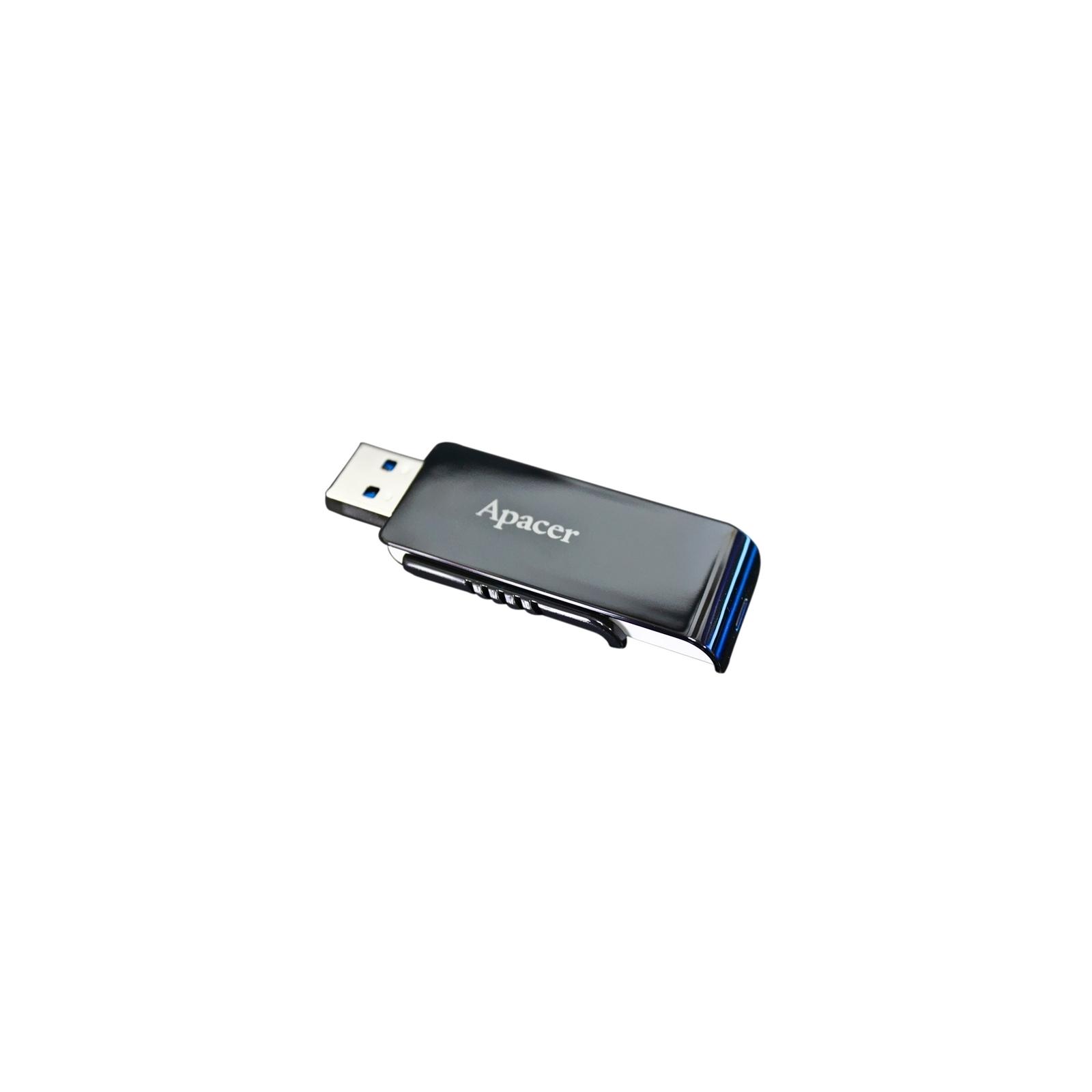 USB флеш накопитель 64GB AH350 Black RP USB3.0 Apacer (AP64GAH350B-1) изображение 9