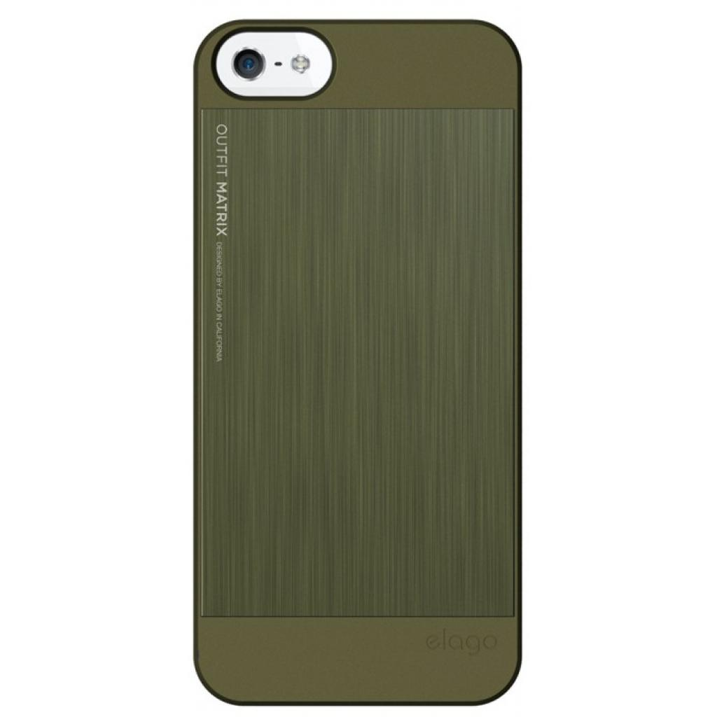 Чехол для моб. телефона ELAGO для iPhone 5 /Outfit MATRIX Aluminum/Green (ELS5OFMX-SFCGR) изображение 2