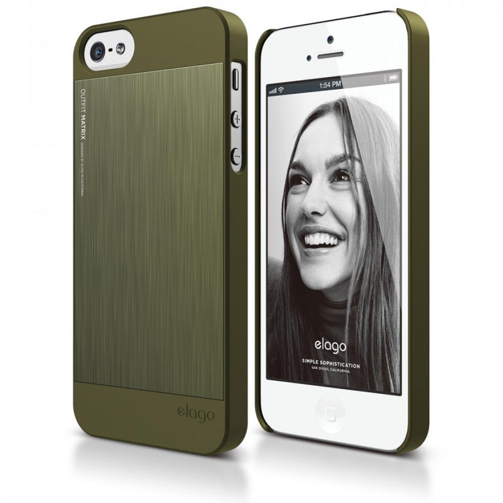 Чехол для моб. телефона ELAGO для iPhone 5 /Outfit MATRIX Aluminum/Green (ELS5OFMX-SFCGR) изображение 5