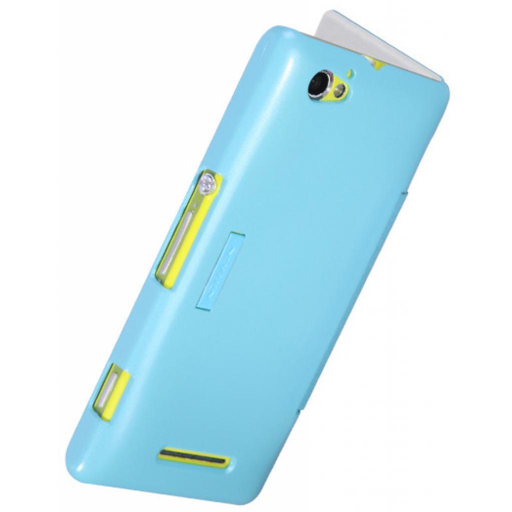 Чехол для моб. телефона NILLKIN для Sony Xperia M /Fresh/ Leather/Blue (6104004) изображение 2