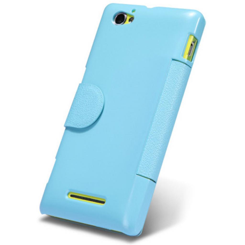 Чехол для моб. телефона NILLKIN для Sony Xperia M /Fresh/ Leather/Blue (6104004) изображение 3
