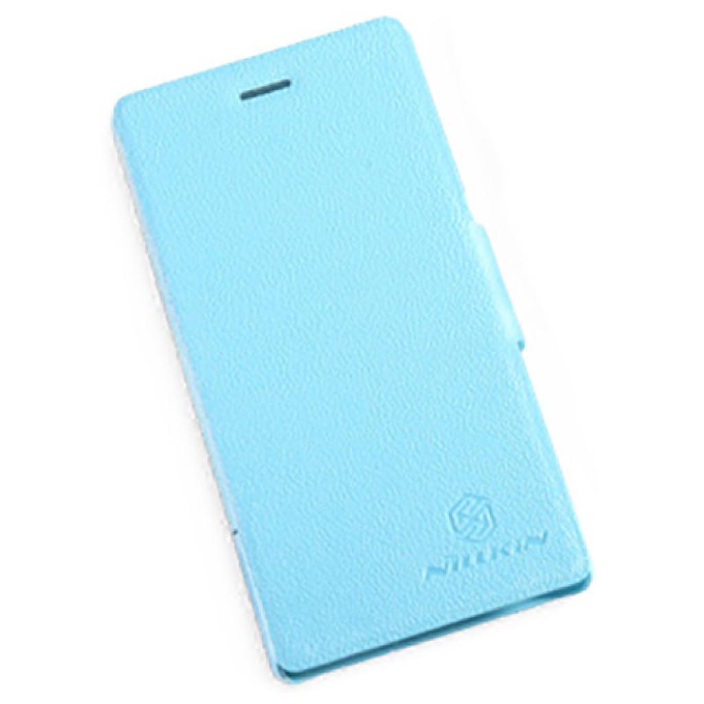 Чехол для моб. телефона NILLKIN для Sony Xperia M /Fresh/ Leather/Blue (6104004)