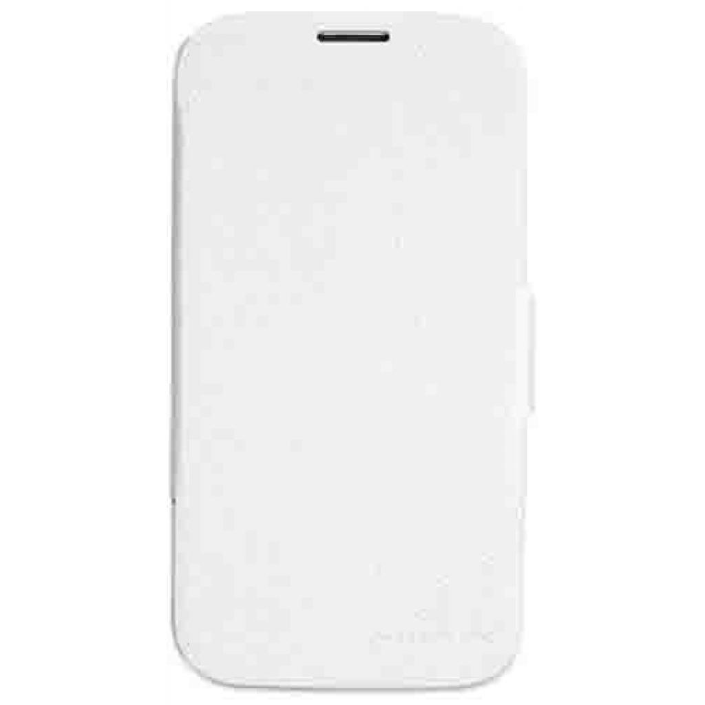Чехол для моб. телефона NILLKIN для Samsung G900/S-5/Fresh/ Leather/White (6135315)