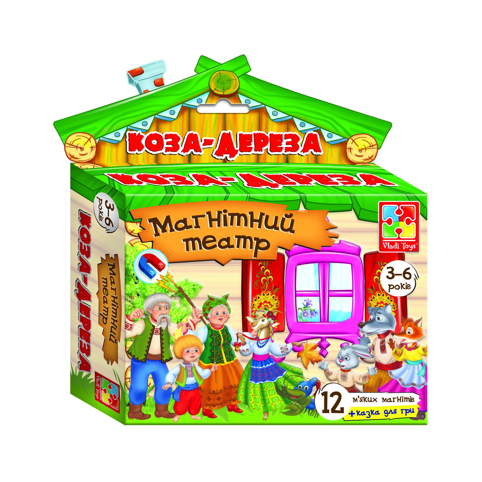 Настольная игра Vladi Toys Магнитный театр Коза-Дереза (укр. язык) (VT3206-13)