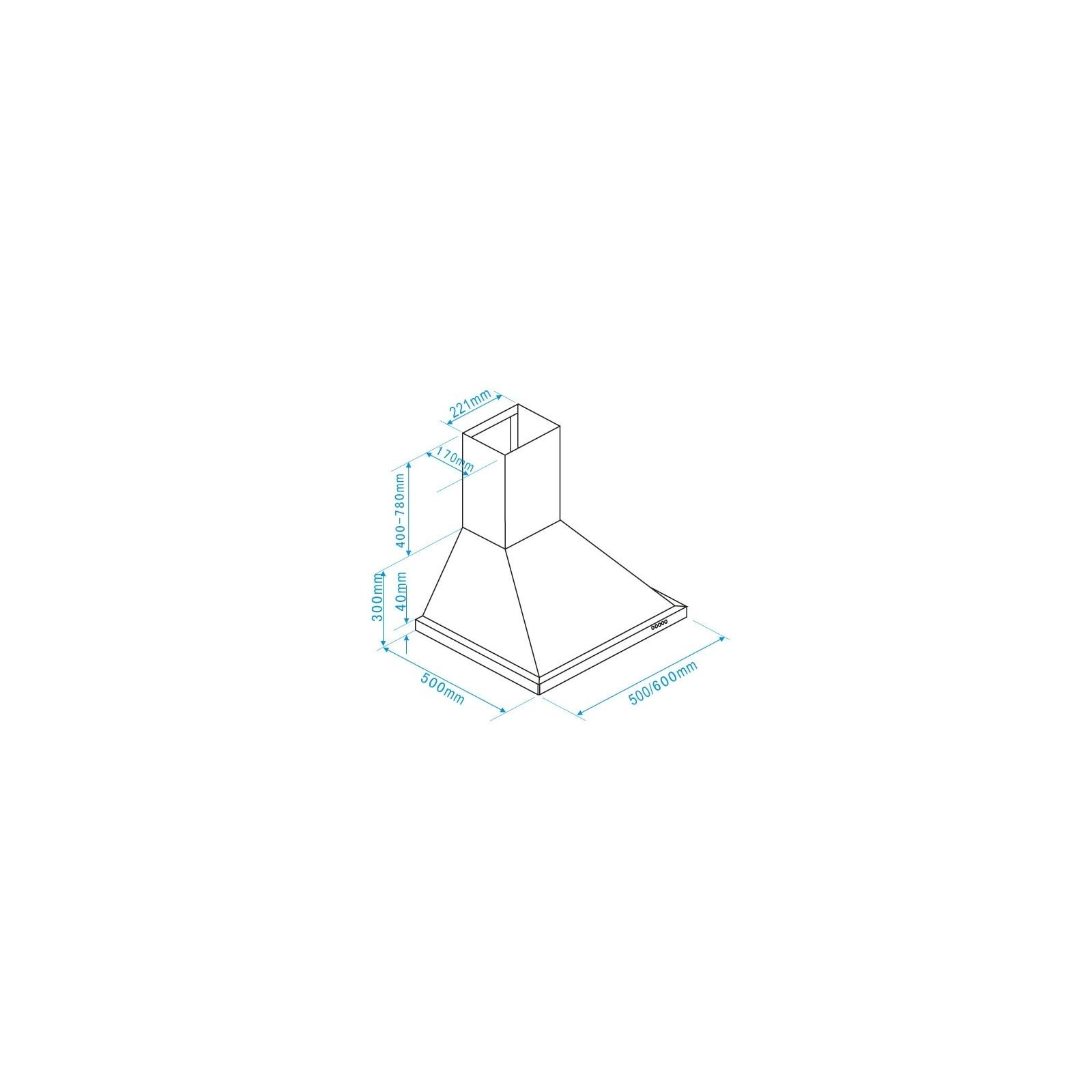 Вытяжка кухонная INTERLINE DONNA X A/50 PB изображение 2
