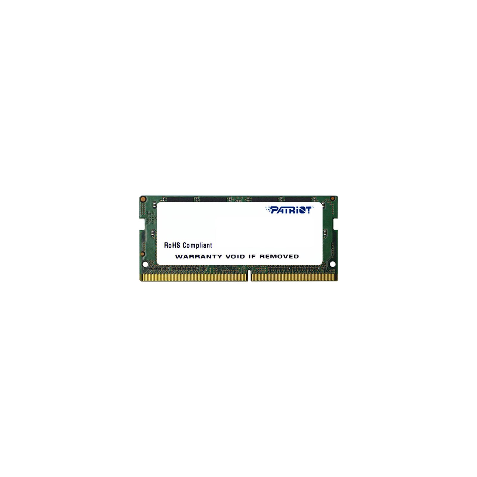 Модуль памяти для ноутбука SoDIMM DDR4 8GB 2133 MHz Patriot (PSD48G21332S)