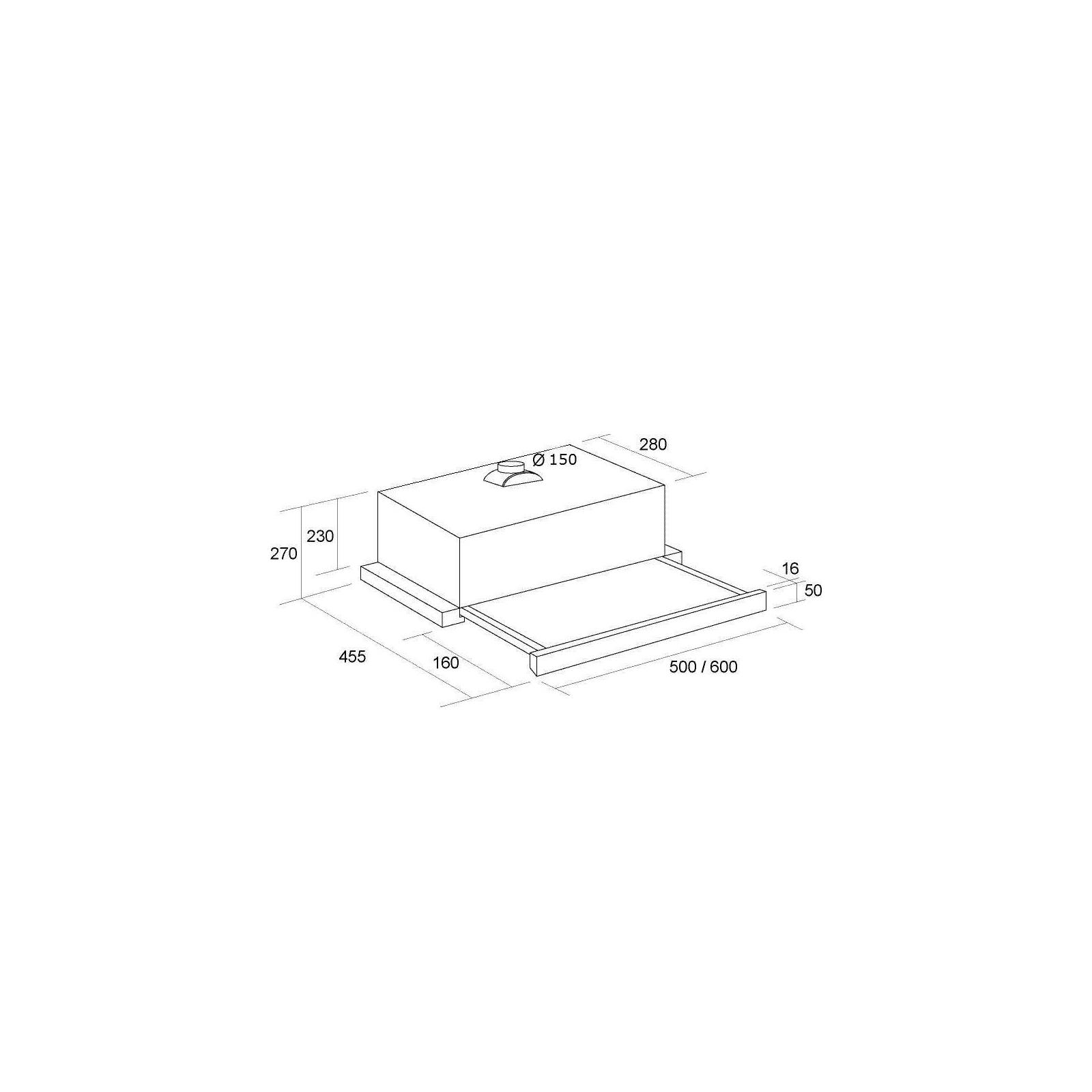 Вытяжка кухонная PYRAMIDA TL FULL GLASS 60 (1100) INOX BL/U изображение 10