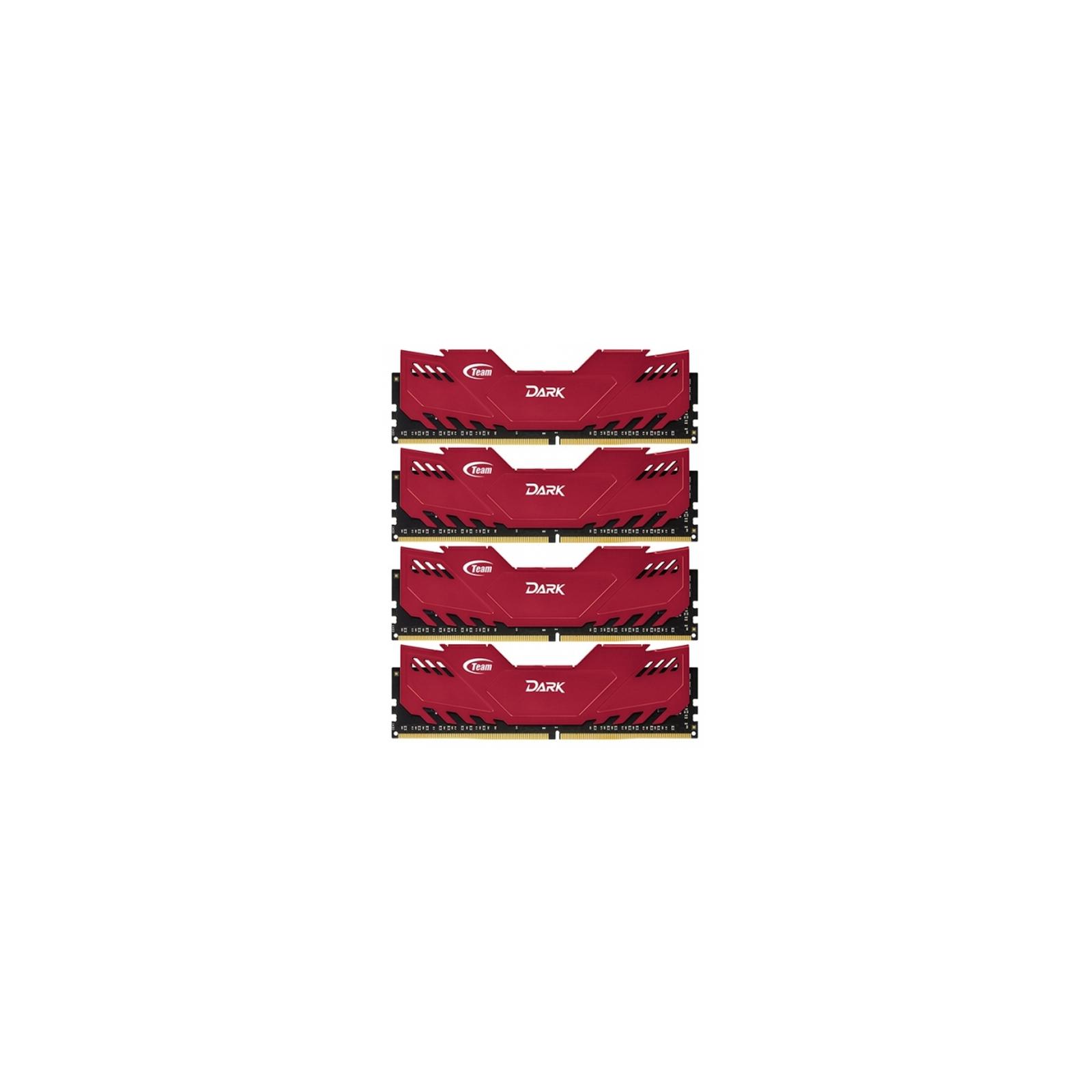 Модуль памяти для компьютера DDR4 32GB (4x8GB) 3000 MHz Dark Red Team (TDRED432G3000HC16AQC01)