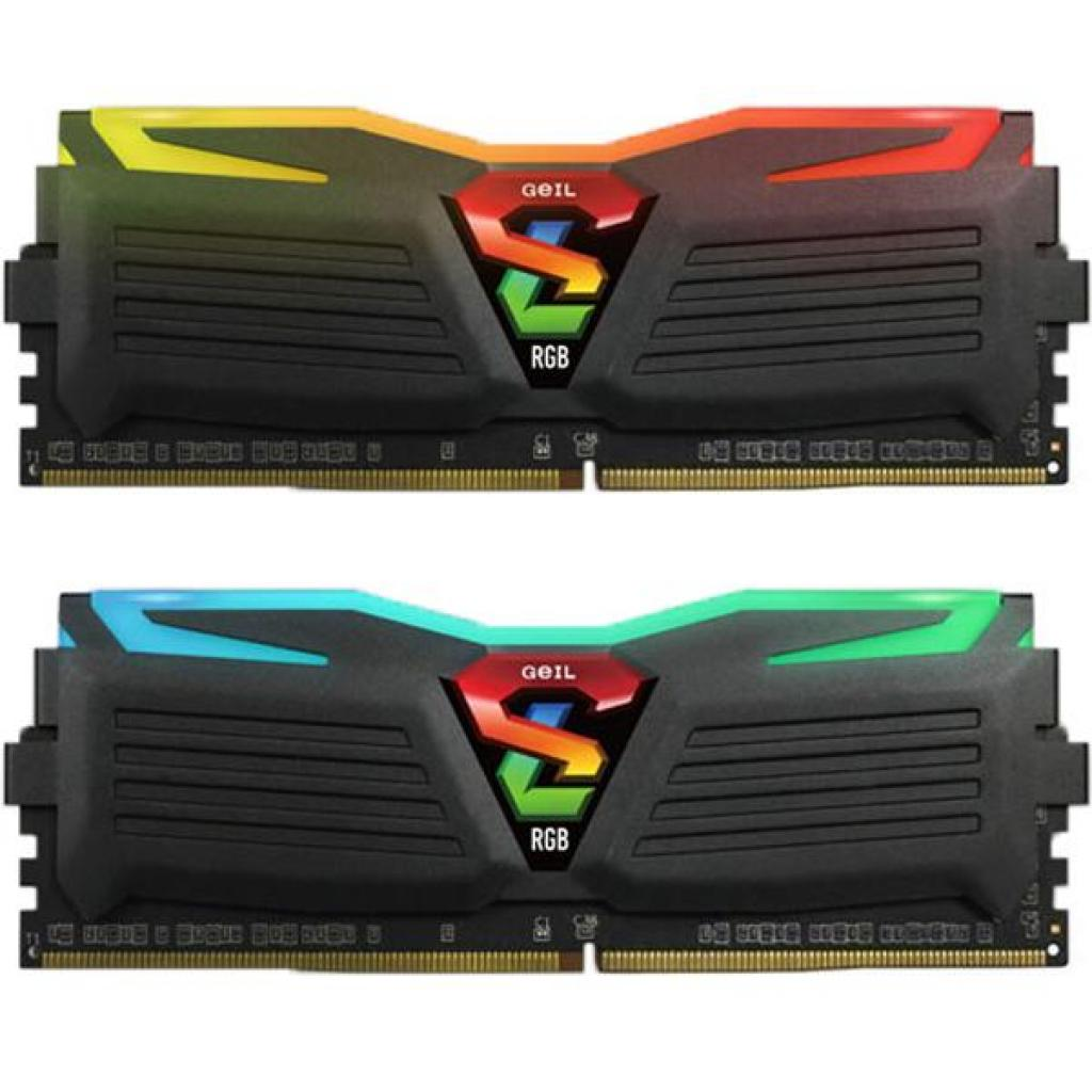 Модуль памяти для компьютера DDR4 16GB (2x8GB) 3200 MHz Super Luce Black RGB LED Geil (GLC416GB3200C16ADC)