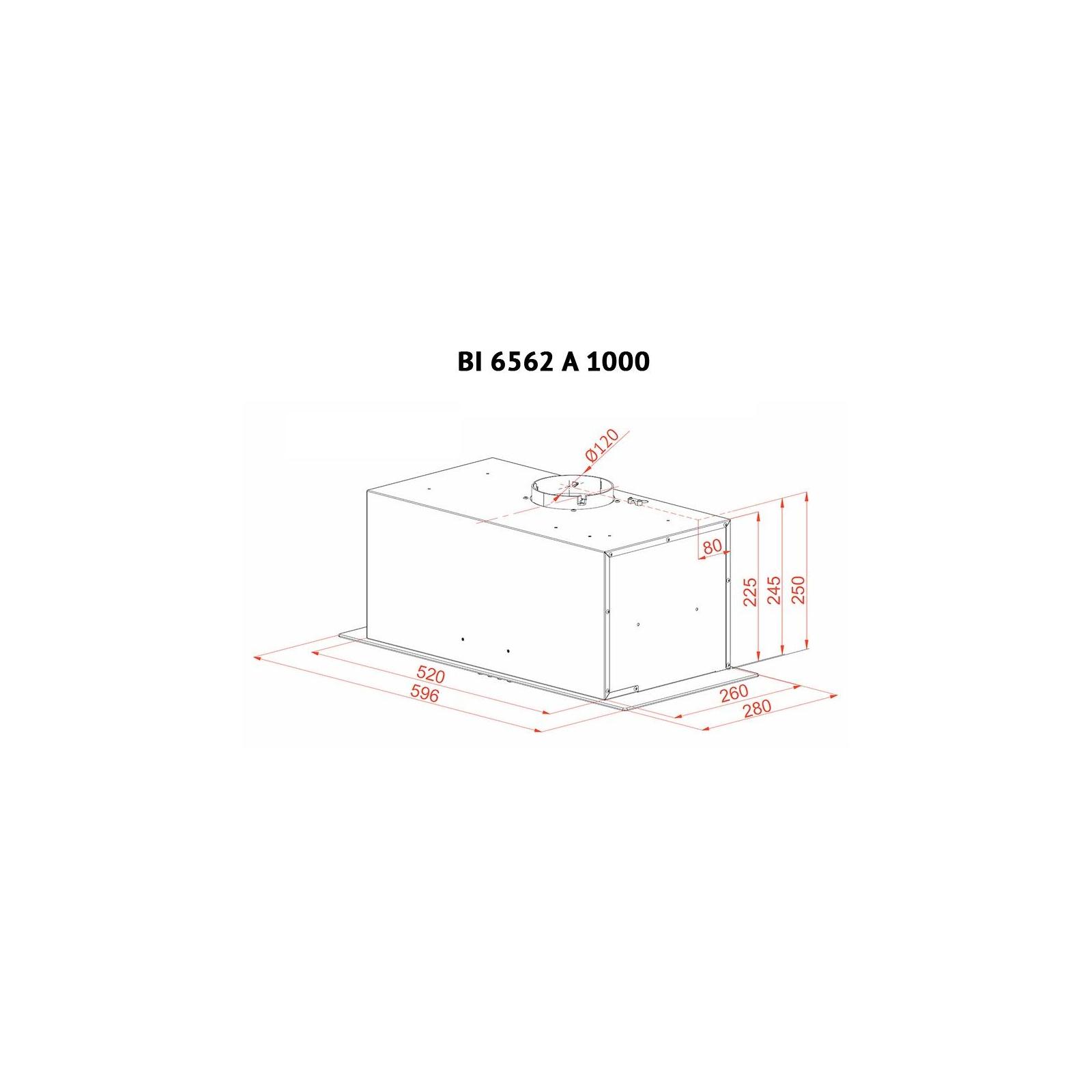 Вытяжка кухонная PERFELLI BI 6562 A 1000 GF LED GLASS изображение 7