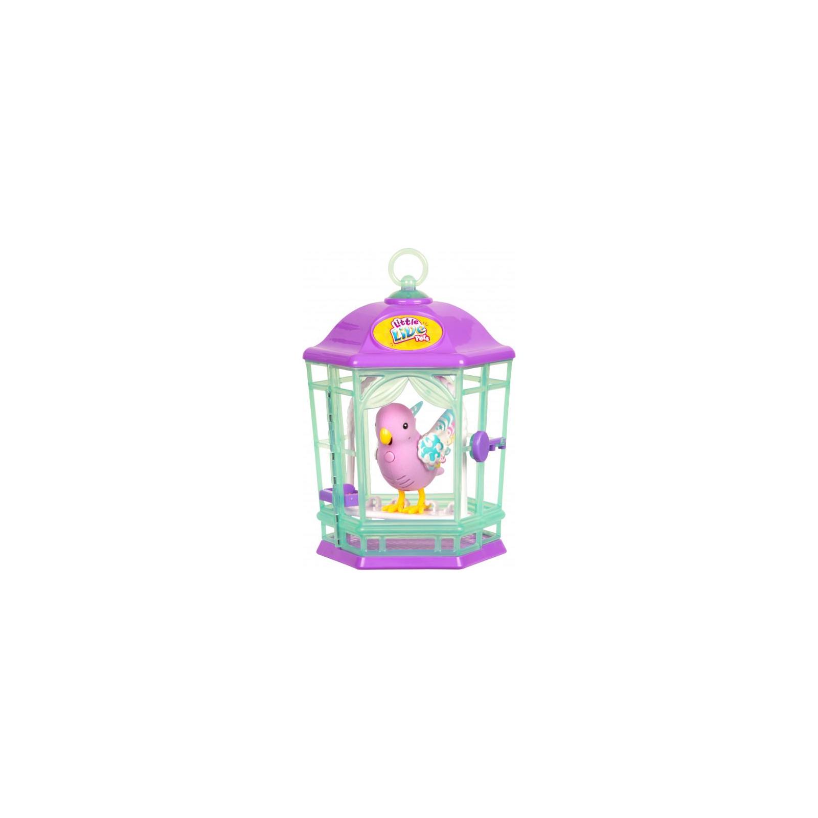 Интерактивная игрушка Moose Птичка в клетке Little Live Pets Rainbow Glow (28547)