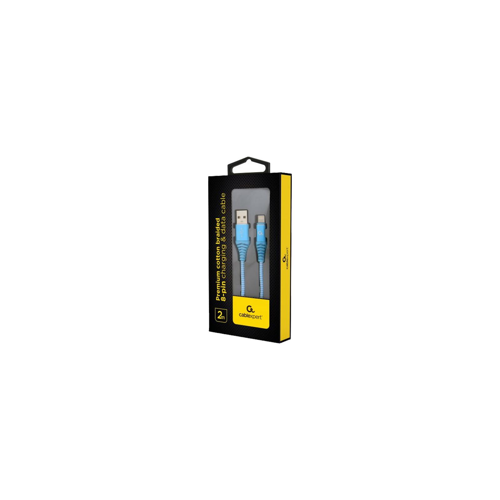 Дата кабель USB 2.0 AM to Lightning 2.0m Cablexpert (CC-USB2B-AMLM-2M-PW) изображение 2