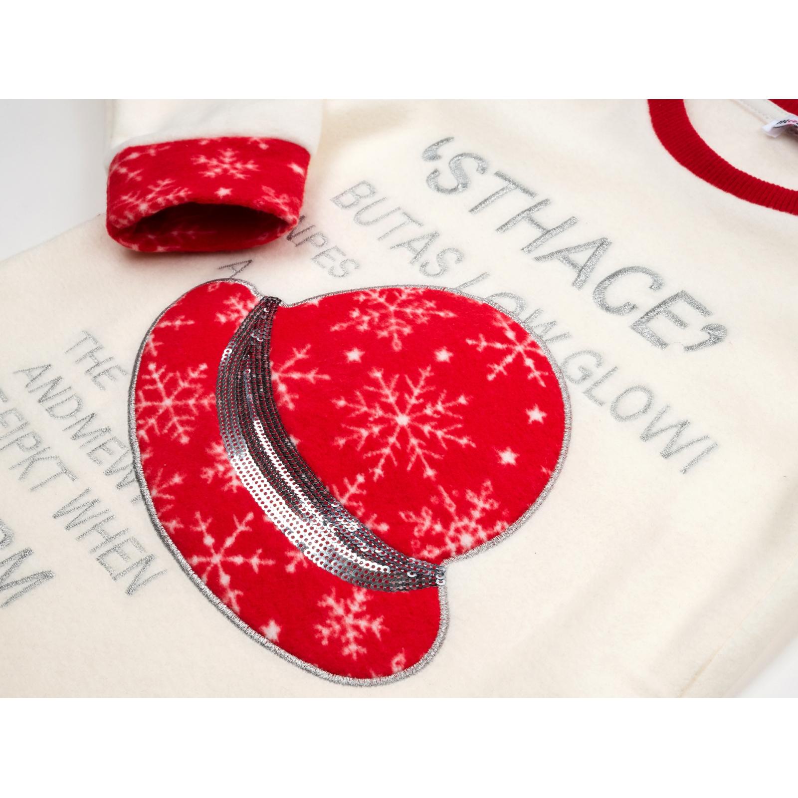 Пижама Matilda флисовая со шляпкой (9110-3-134G-red) изображение 7