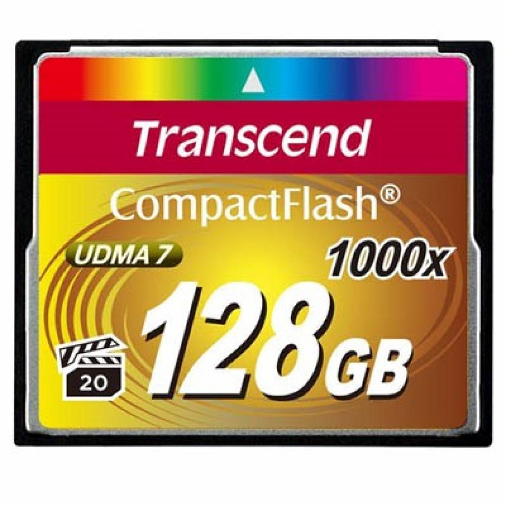 Карта памяти Transcend 128Gb Compact Flash 1000x (TS128GCF1000)