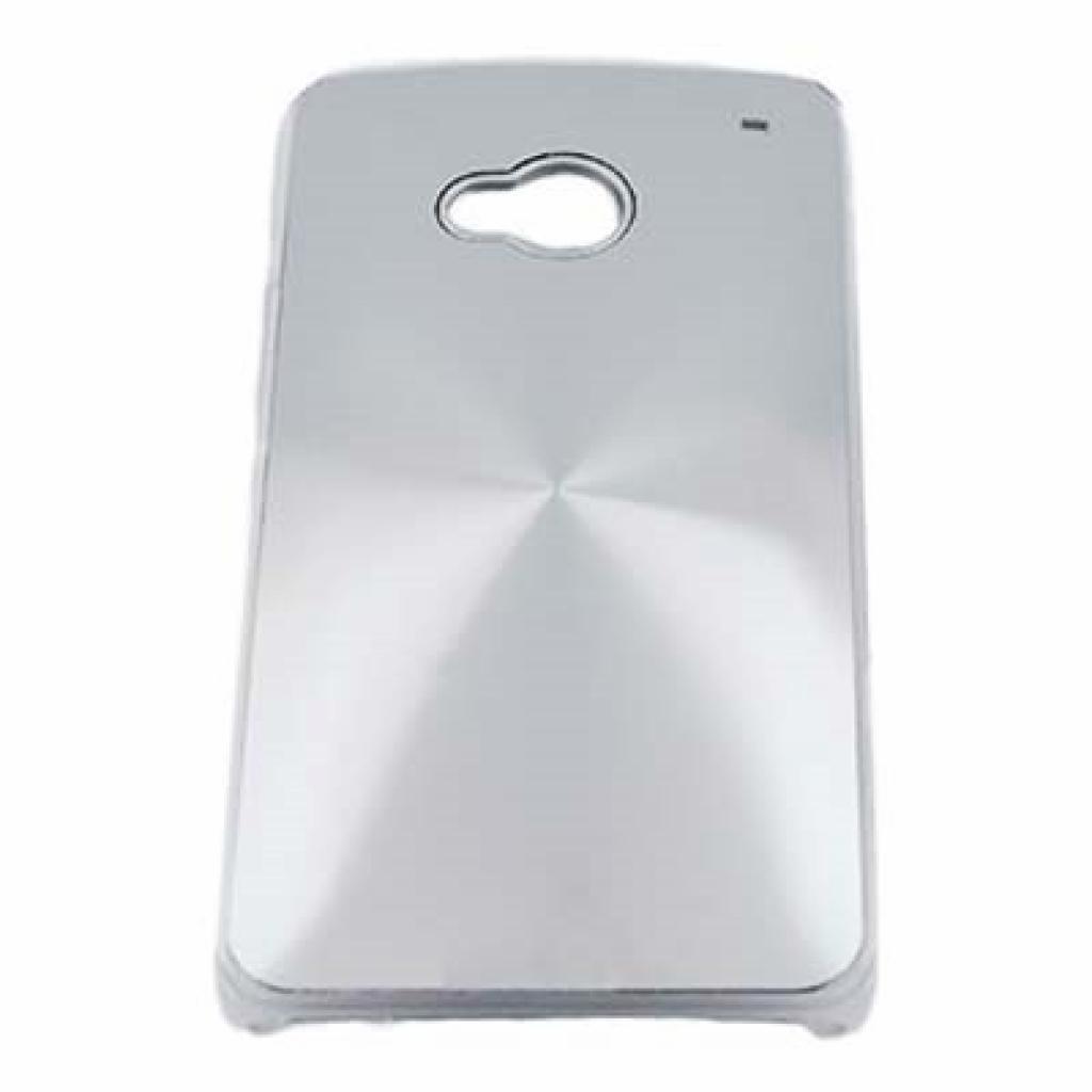 Чехол для моб. телефона Drobak для HTC One /Aluminium Panel/Silver (218809)