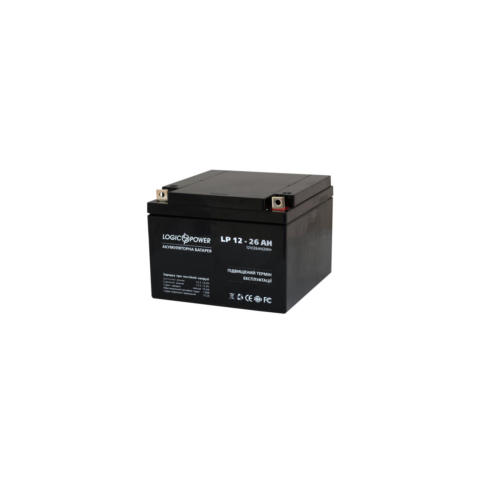 Батарея к ИБП LogicPower 12В 26 Ач (2676) изображение 2