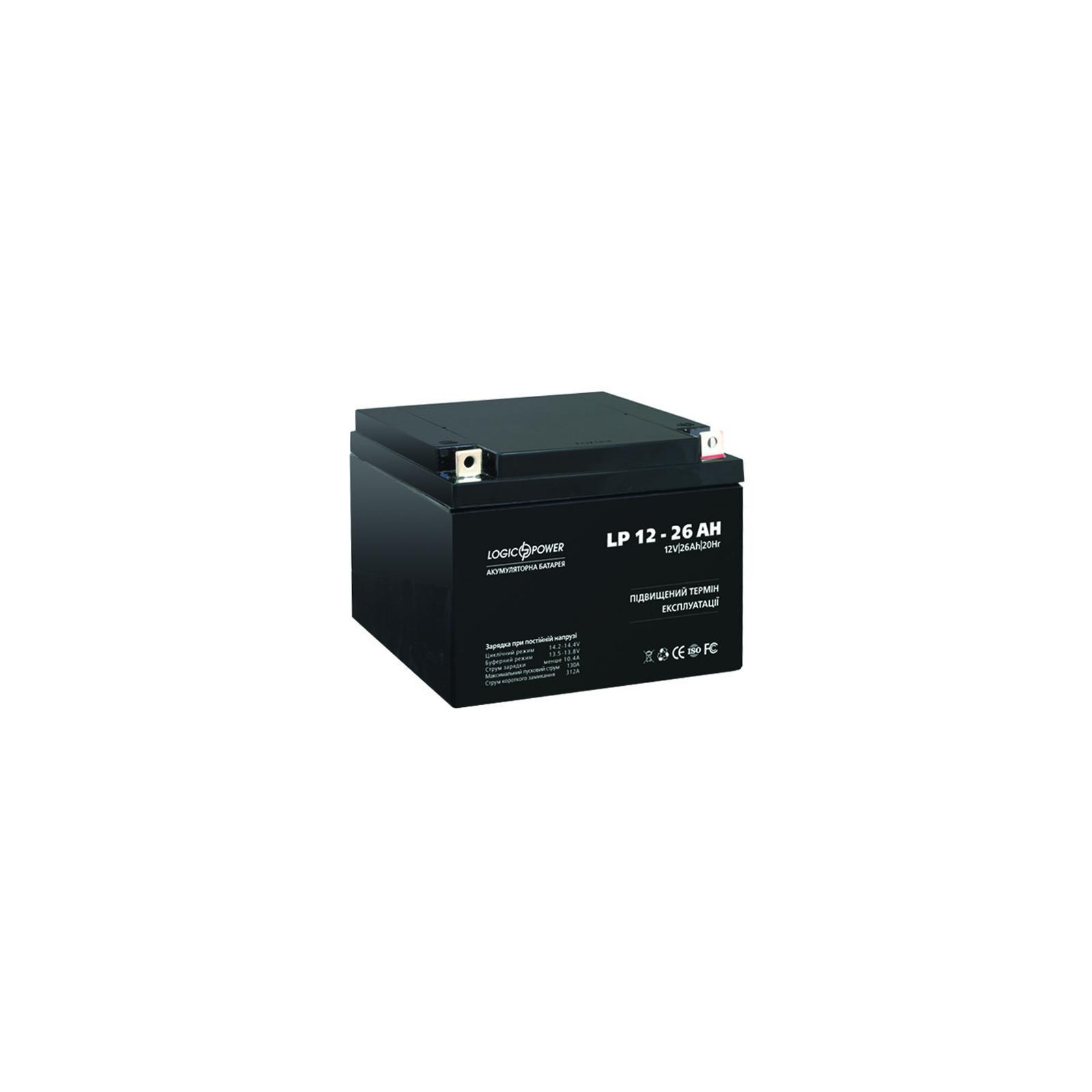Батарея к ИБП LogicPower 12В 26 Ач (2676) изображение 3