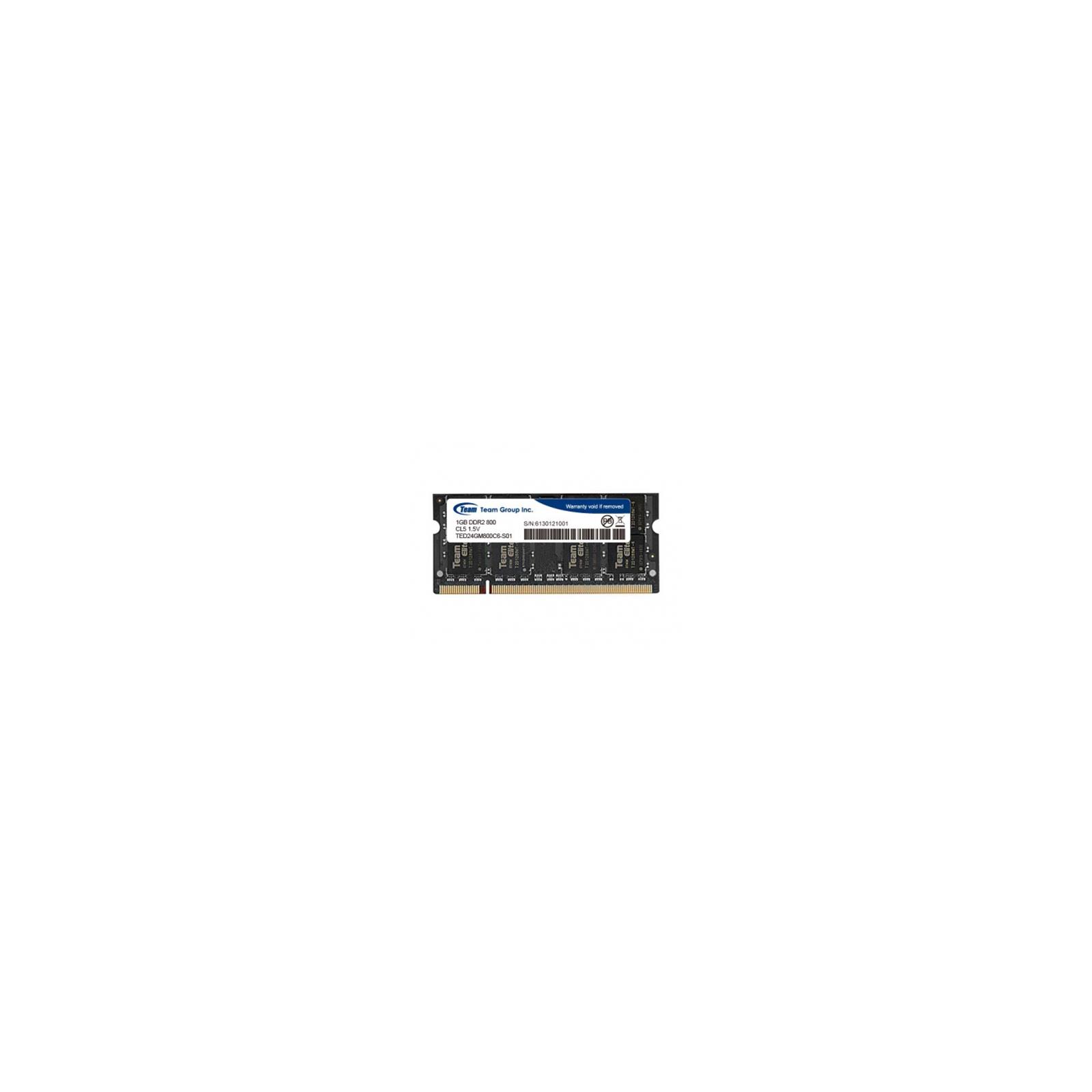 Модуль памяти для компьютера DDR2 1GB 800 MHz Team (TED21G800C5-SBK) изображение 2